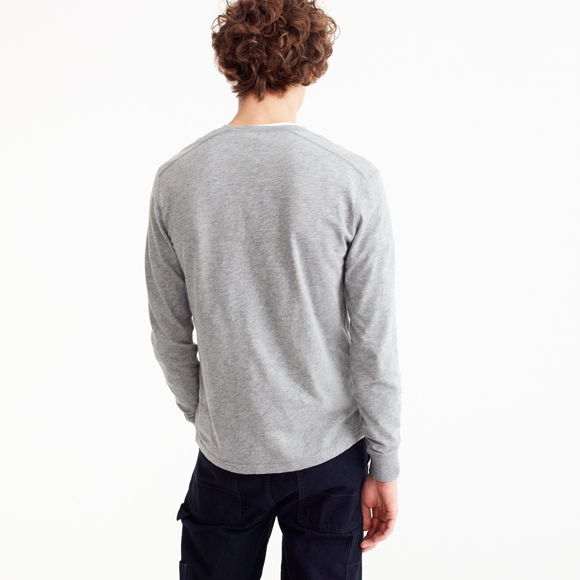 Image 3 for Tall slub cotton garment-dyed henley