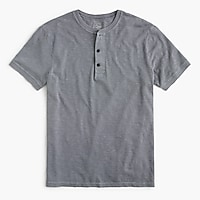 Tall garment-dyed short-sleeve henley