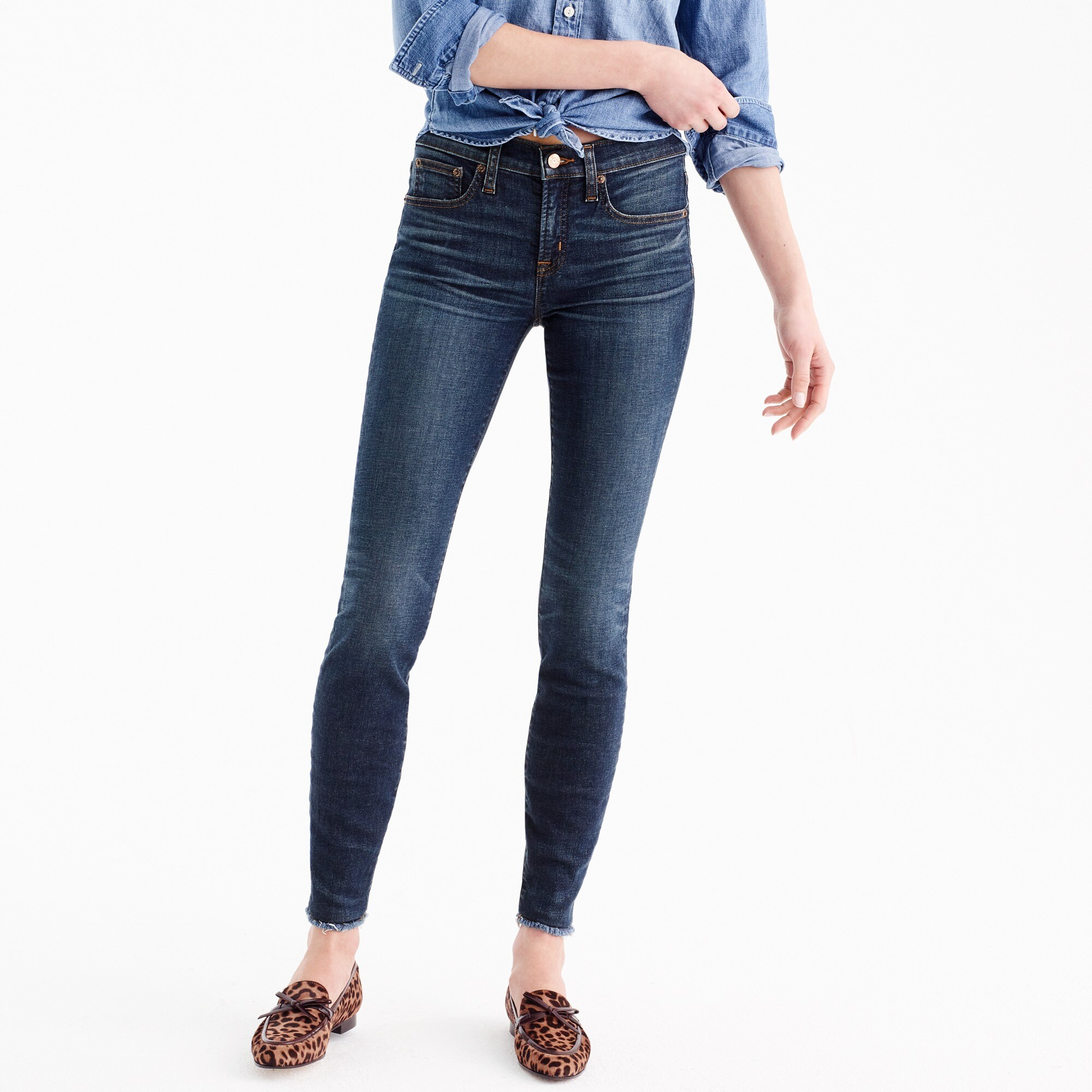 "Tall 8"" toothpick jean in Glendale wash"