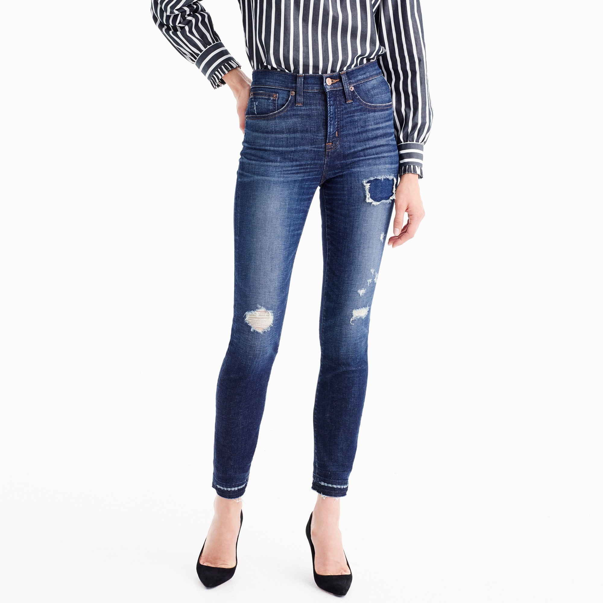 "Tall 9"" high-rise toothpick jean in Lassiter wash"