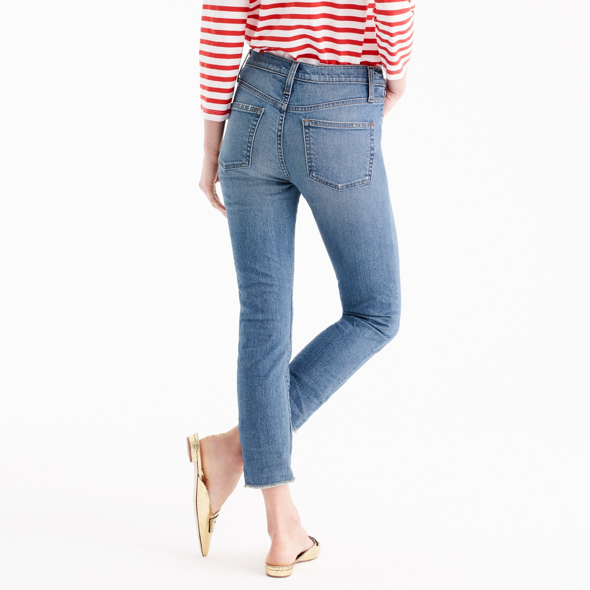 Vintage crop jean in Landers wash