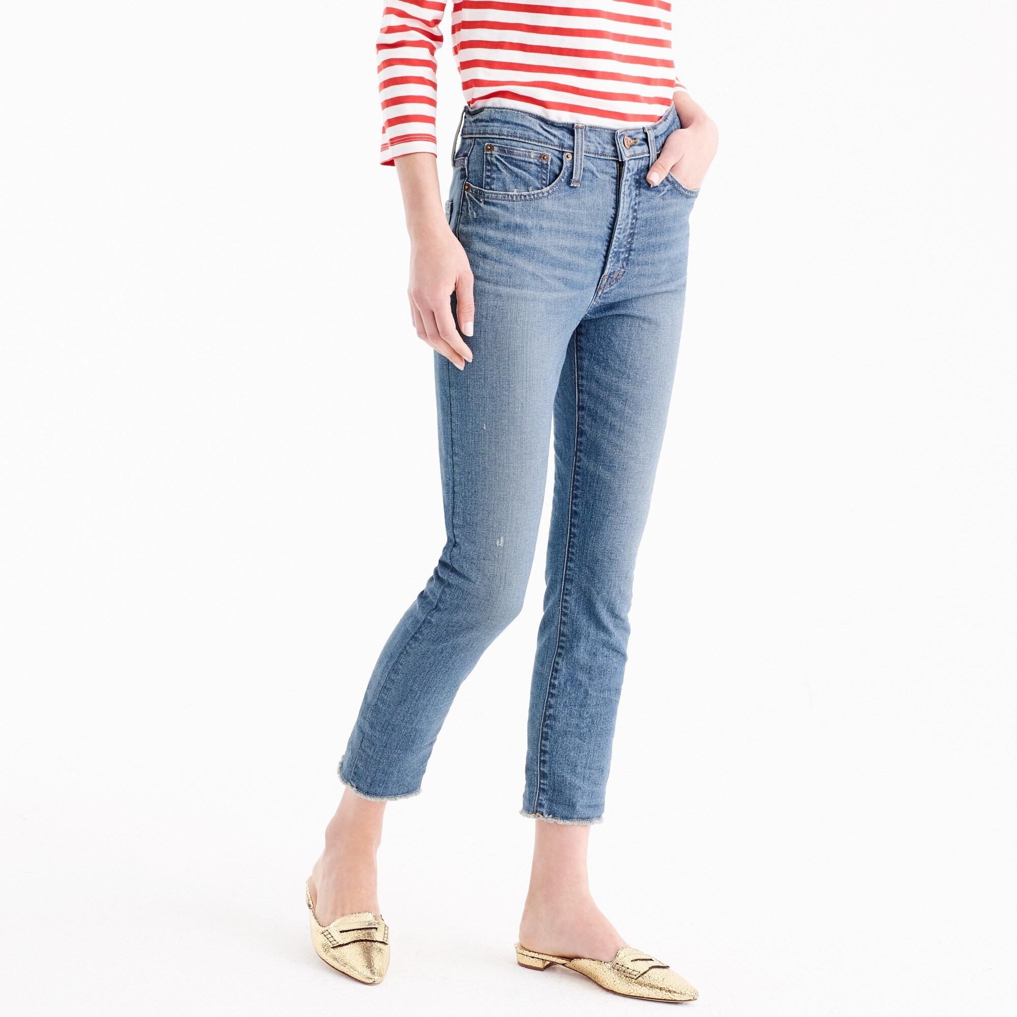 Tall vintage crop jean in Landers wash