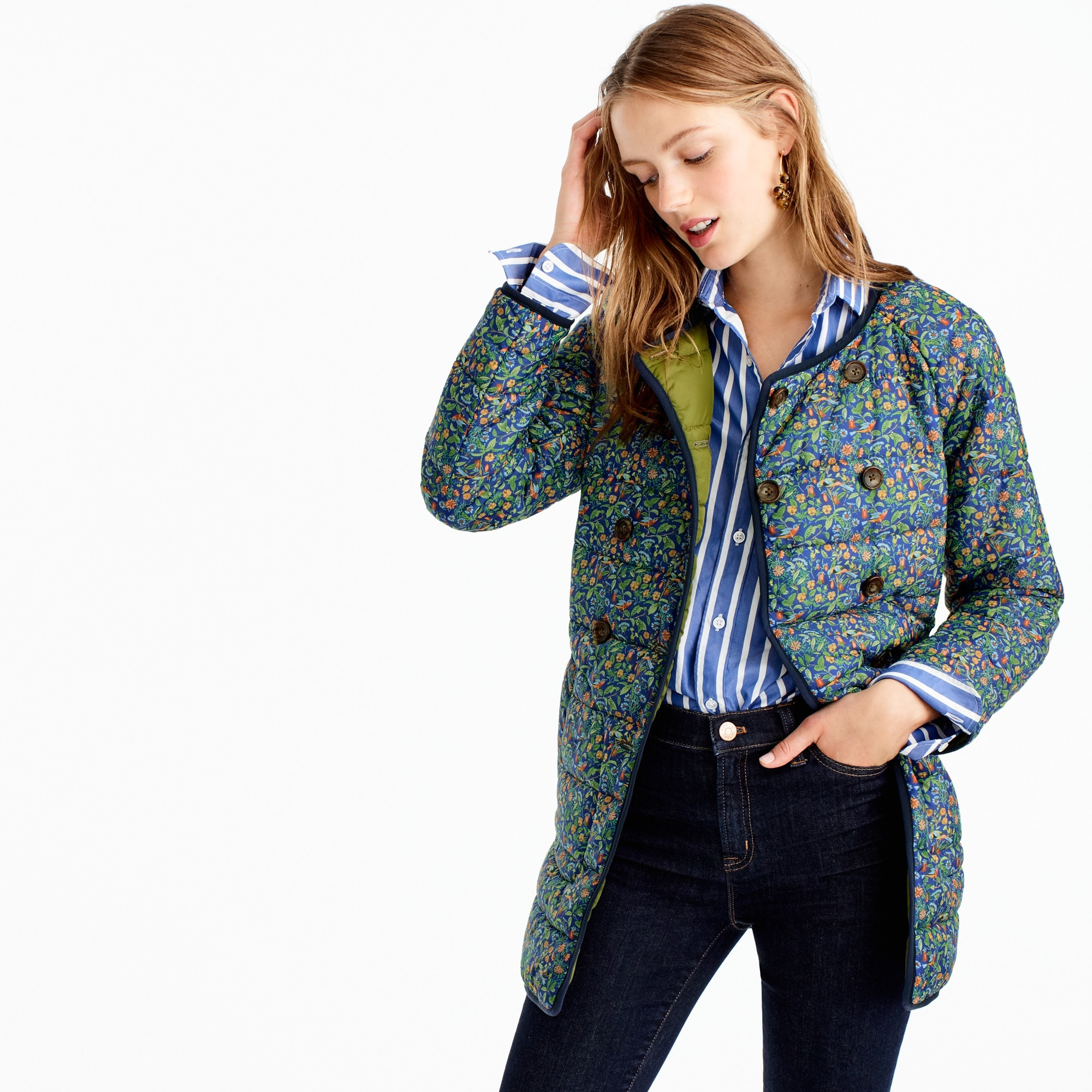 Reversible puffer jacket in Liberty® Catesby floral women j.crew in good company c