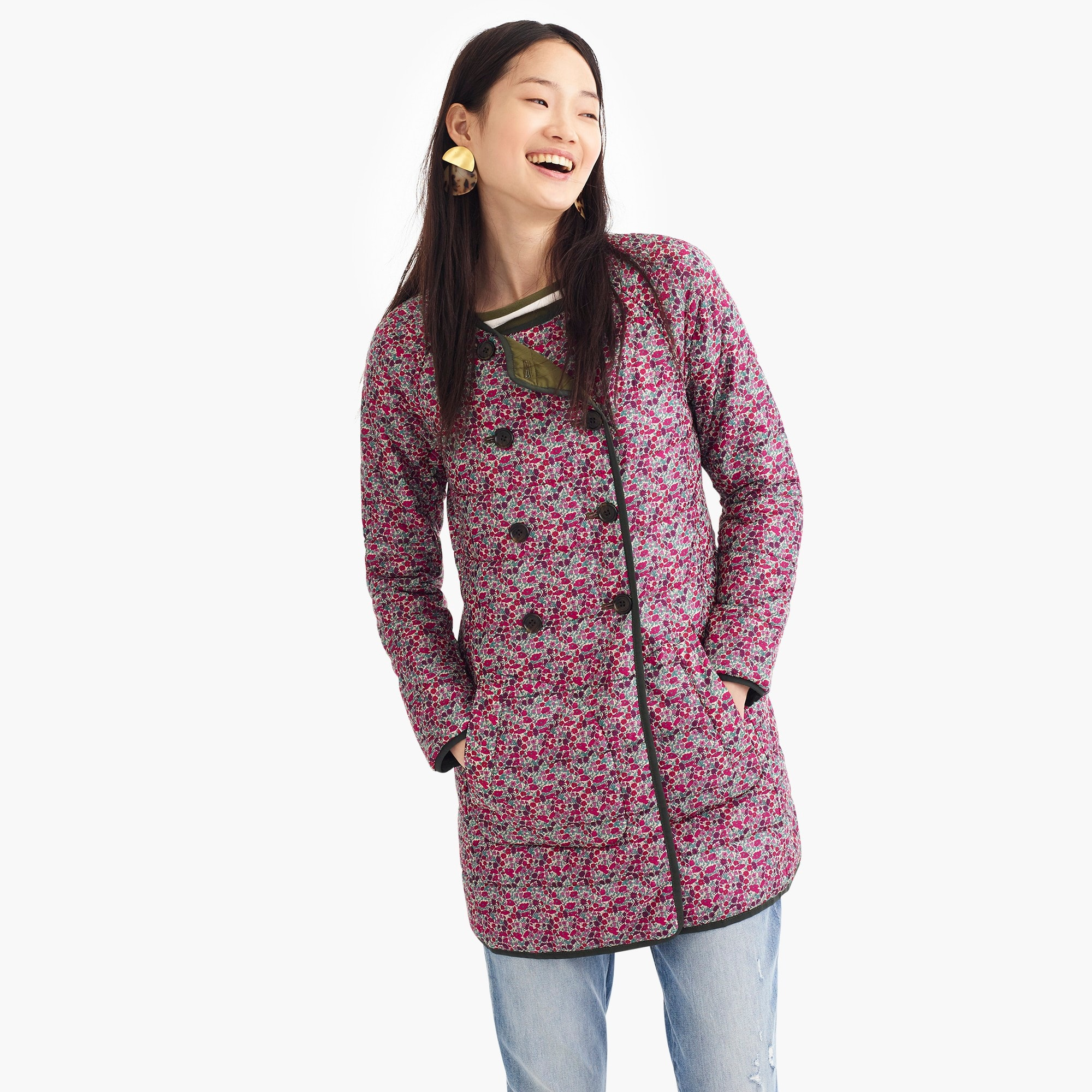 Image 4 for Reversible puffer jacket in Liberty® floral