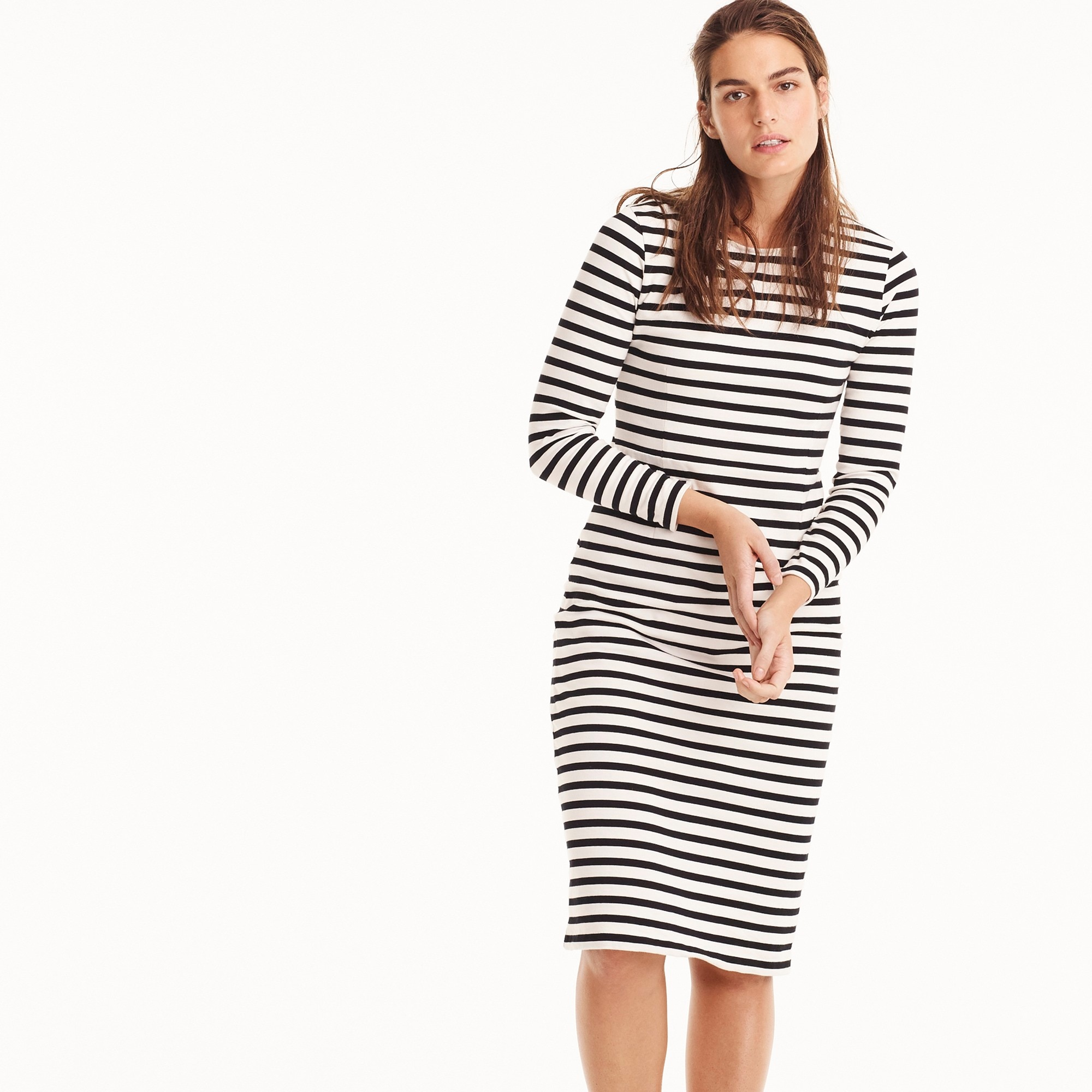 Image 3 for Long-sleeve striped dress