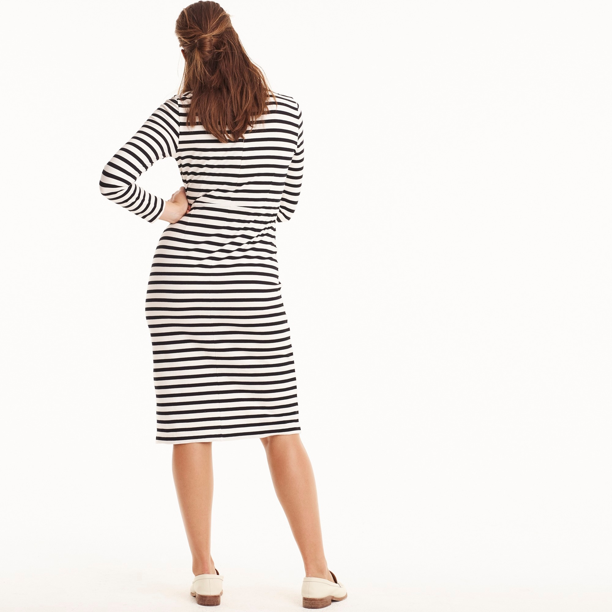Image 4 for Long-sleeve striped dress