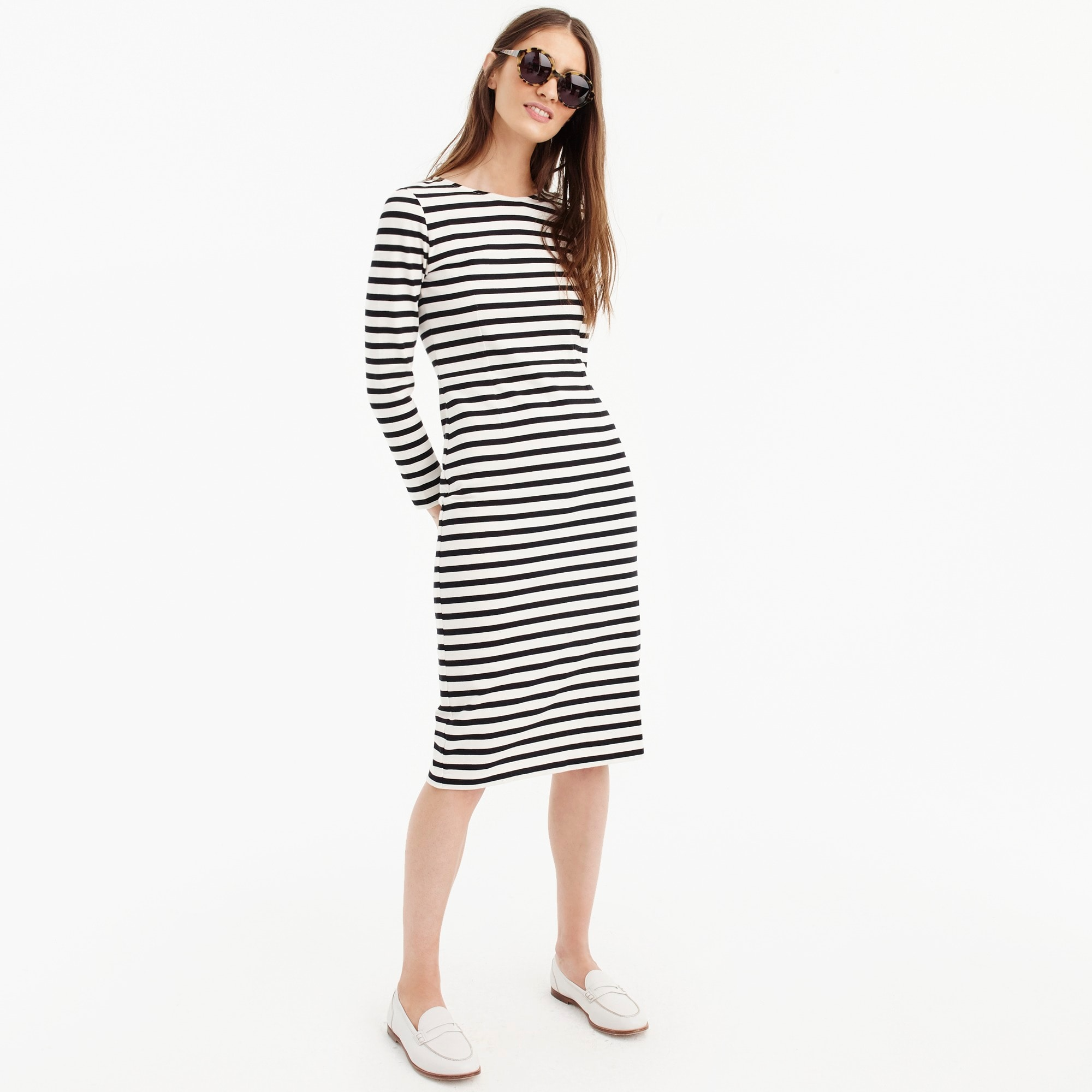 womens Long-sleeve striped dress