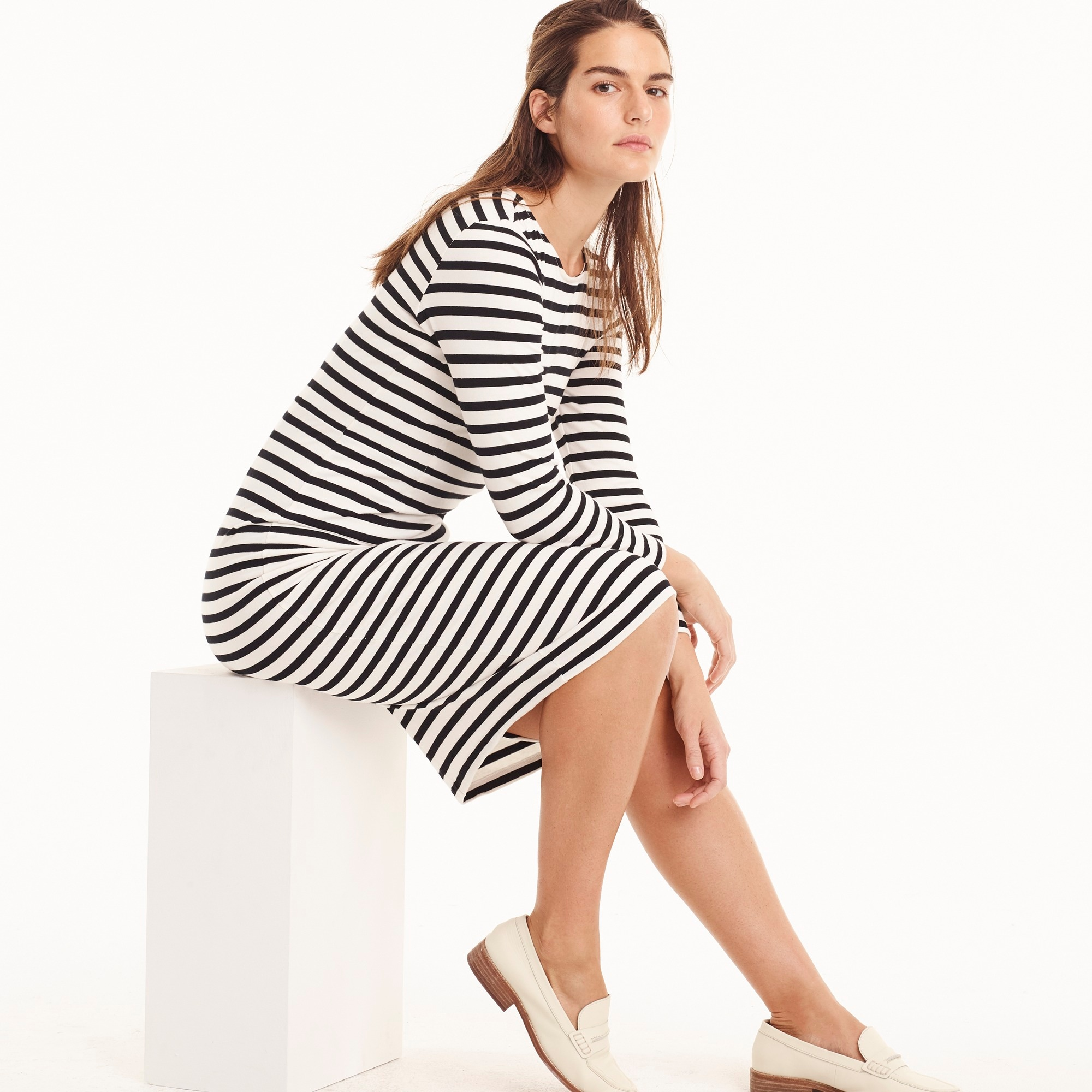 Image 1 for Long-sleeve striped dress