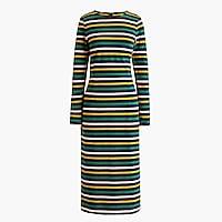 Tall long-sleeve striped dress