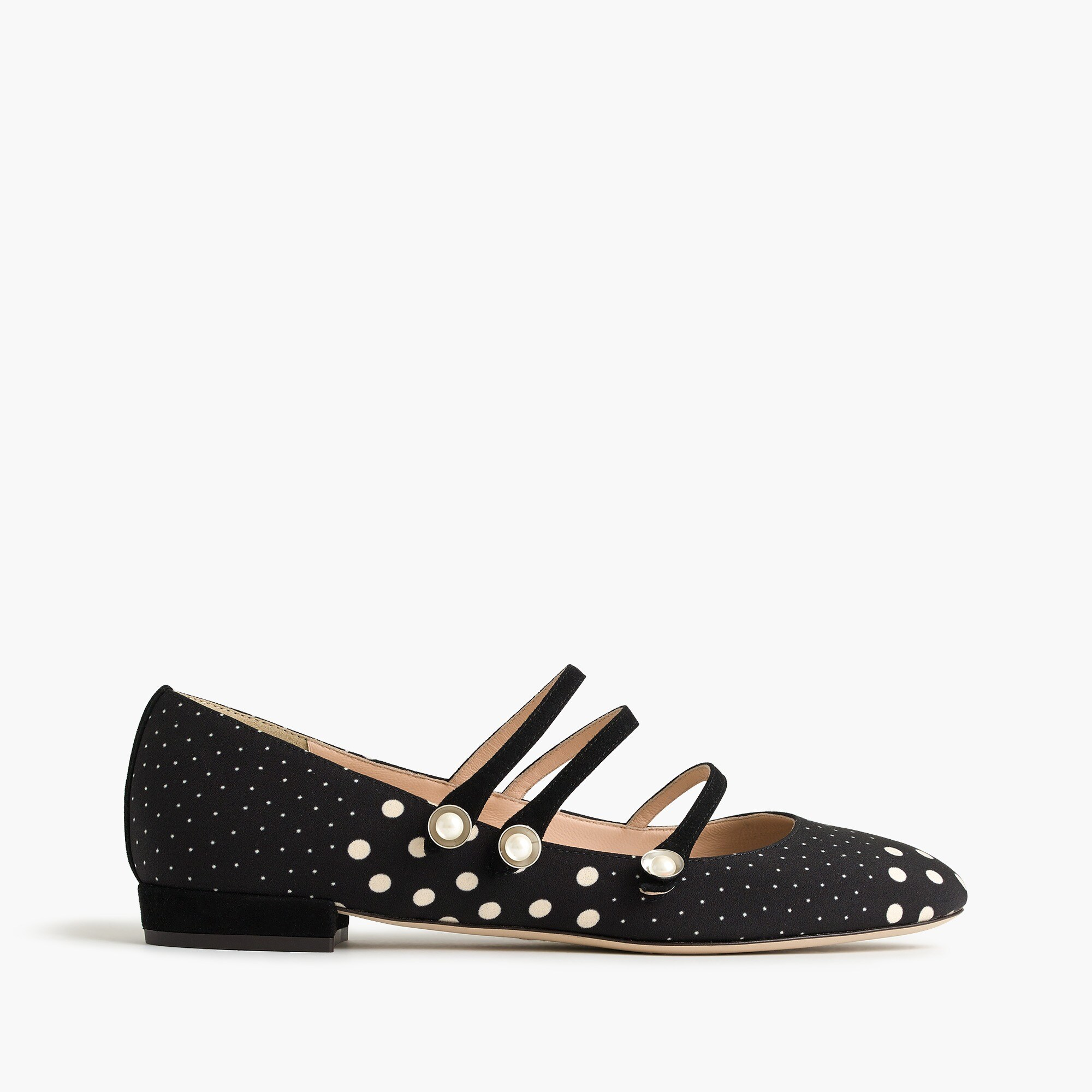 strappy polka-dot flats : women flats