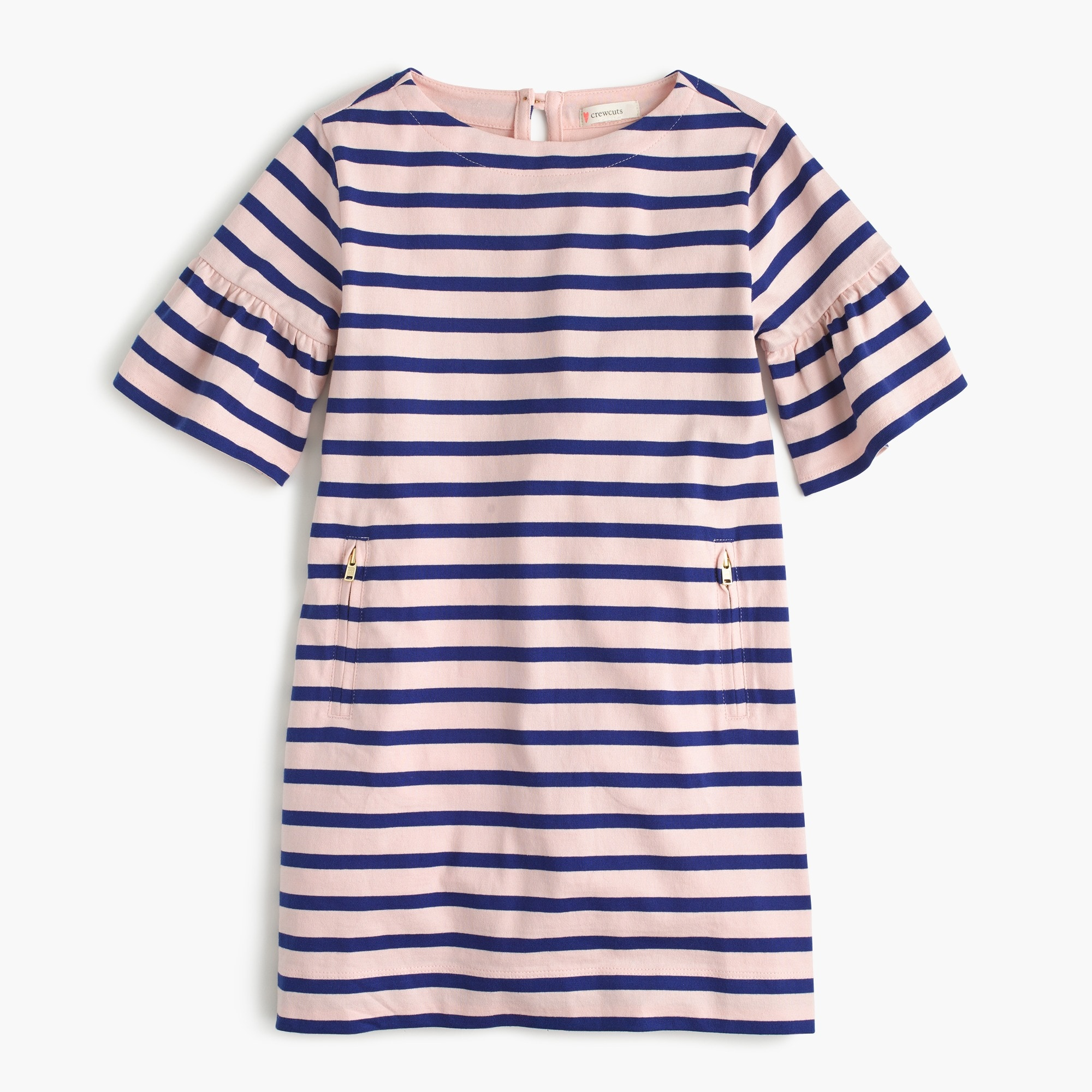 Girls' striped knit dress