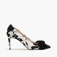 Lucie bow pumps in floral shadow