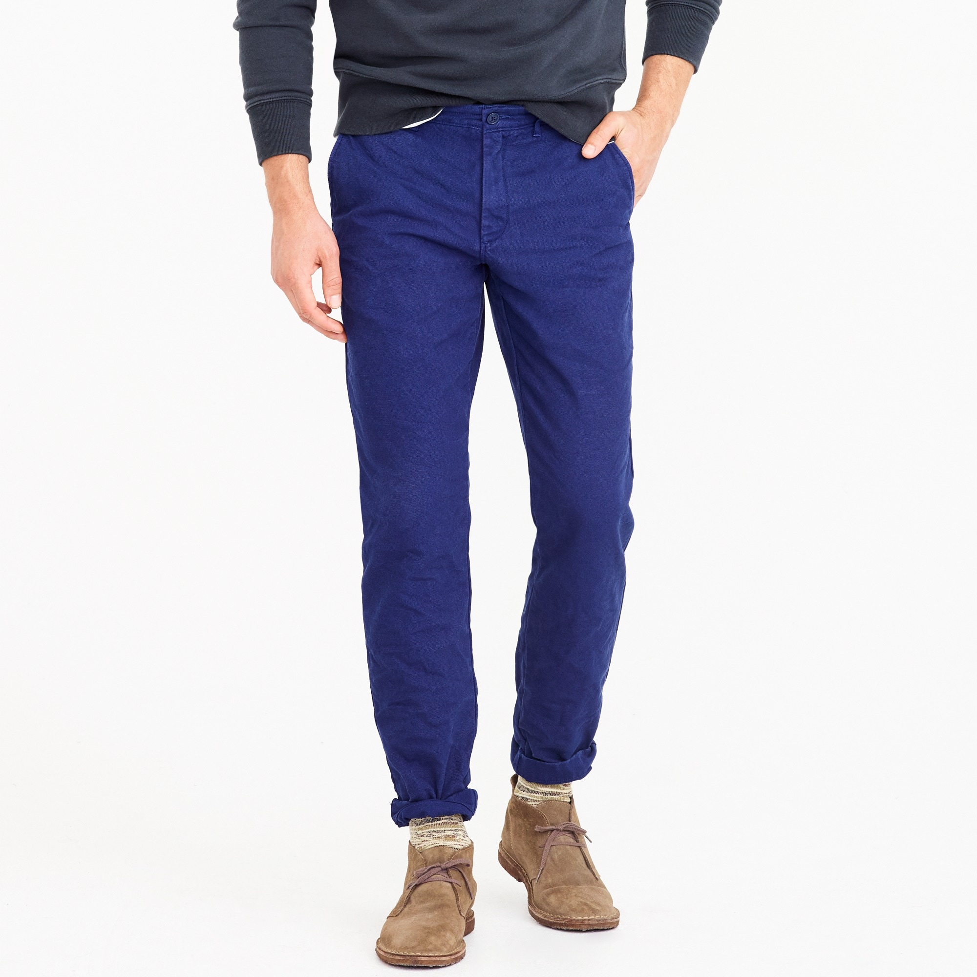 770 Straight-fit chino pant in garment-dyed canvas men pants c