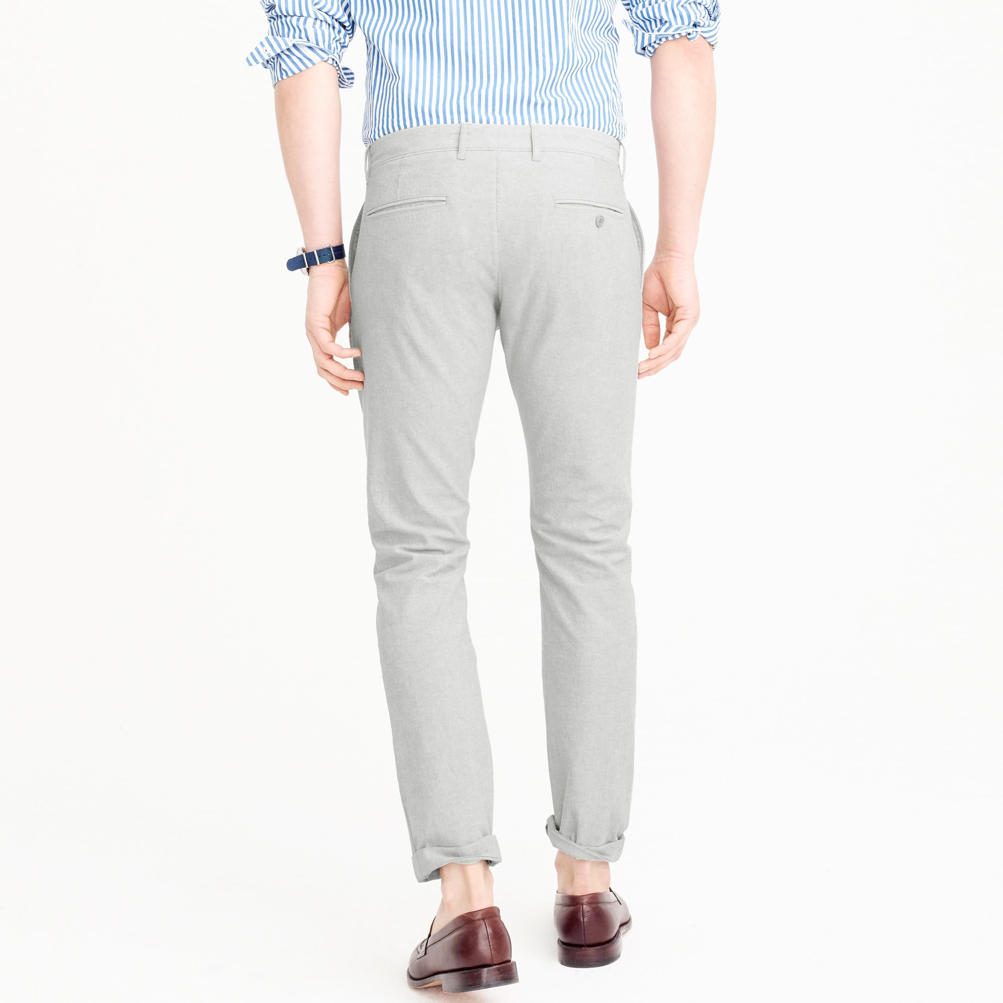 484 Slim-fit pant in stretch chambray