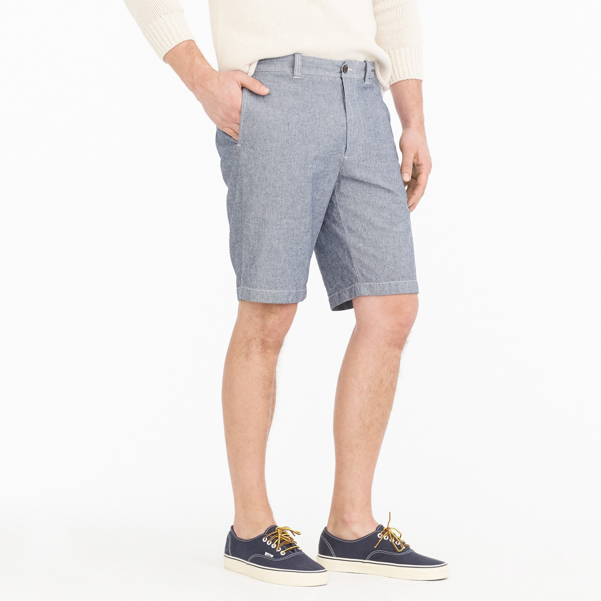 "Image 2 for 10.5"" stretch short in chambray"
