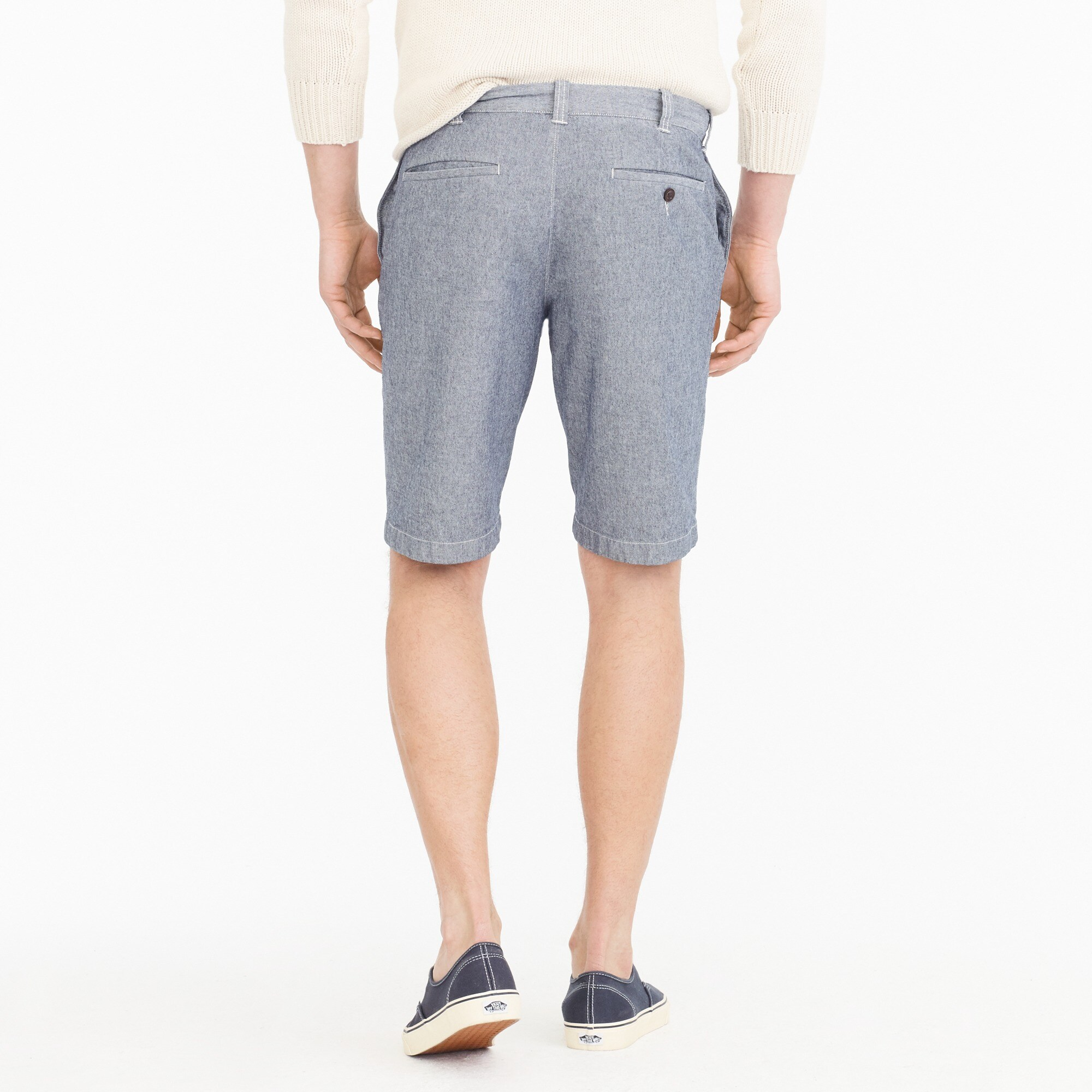 "10.5"" stretch short in chambray"