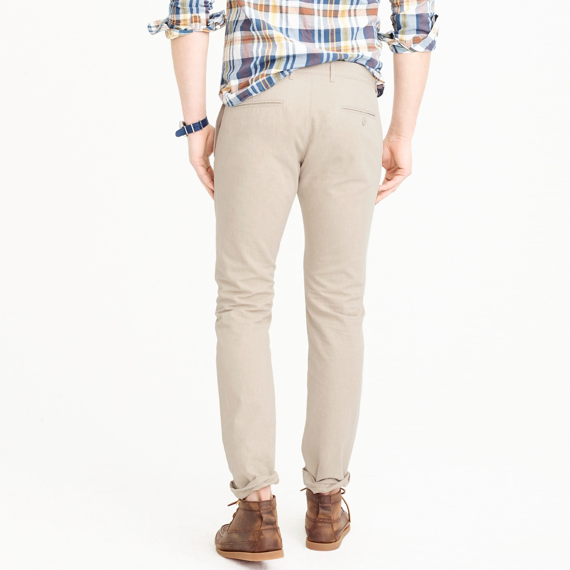 484 Slim-fit chino in stretch herringbone