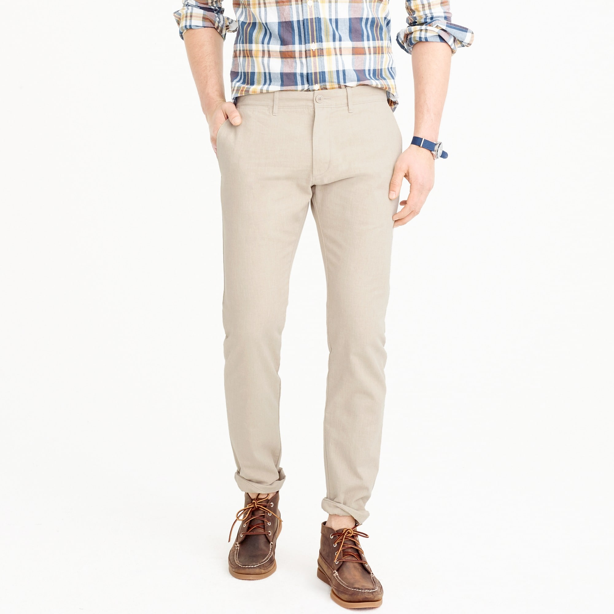484 slim-fit chino in stretch herringbone : men 484 slim