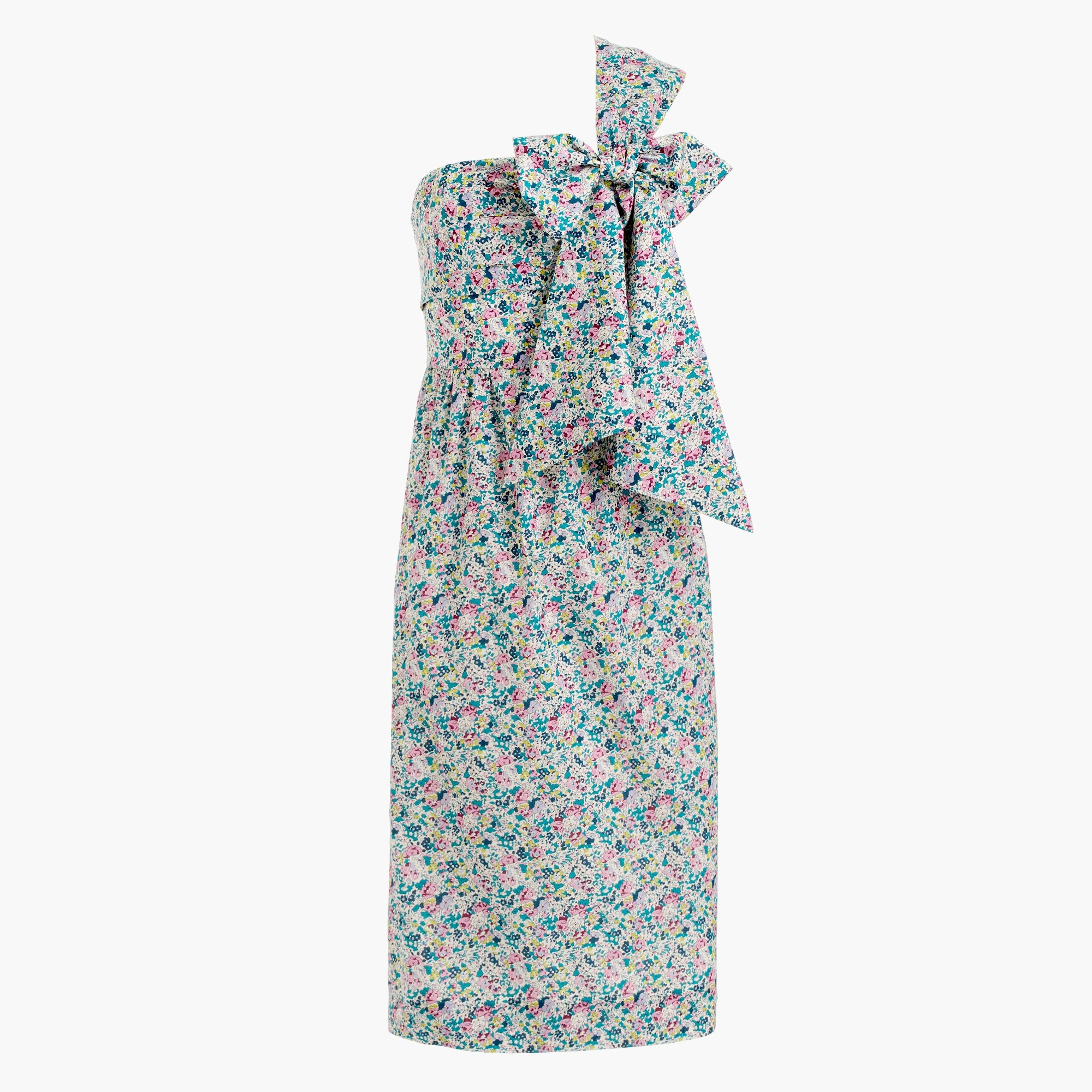 One-shoulder tie dress in Liberty® Claire-Aude floral