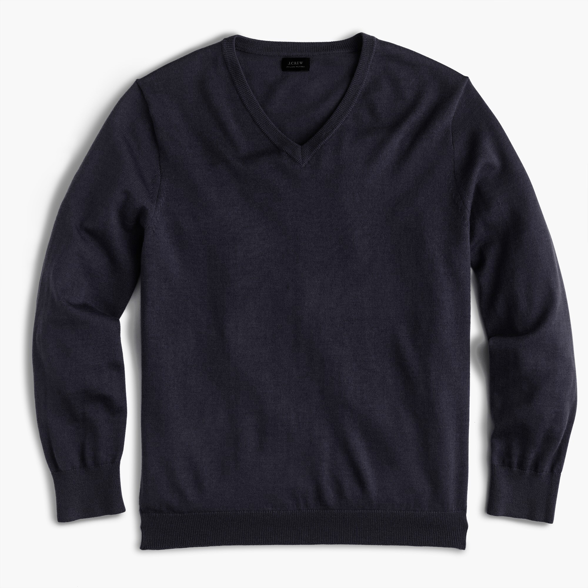 Slim Italian merino wool V-neck sweater