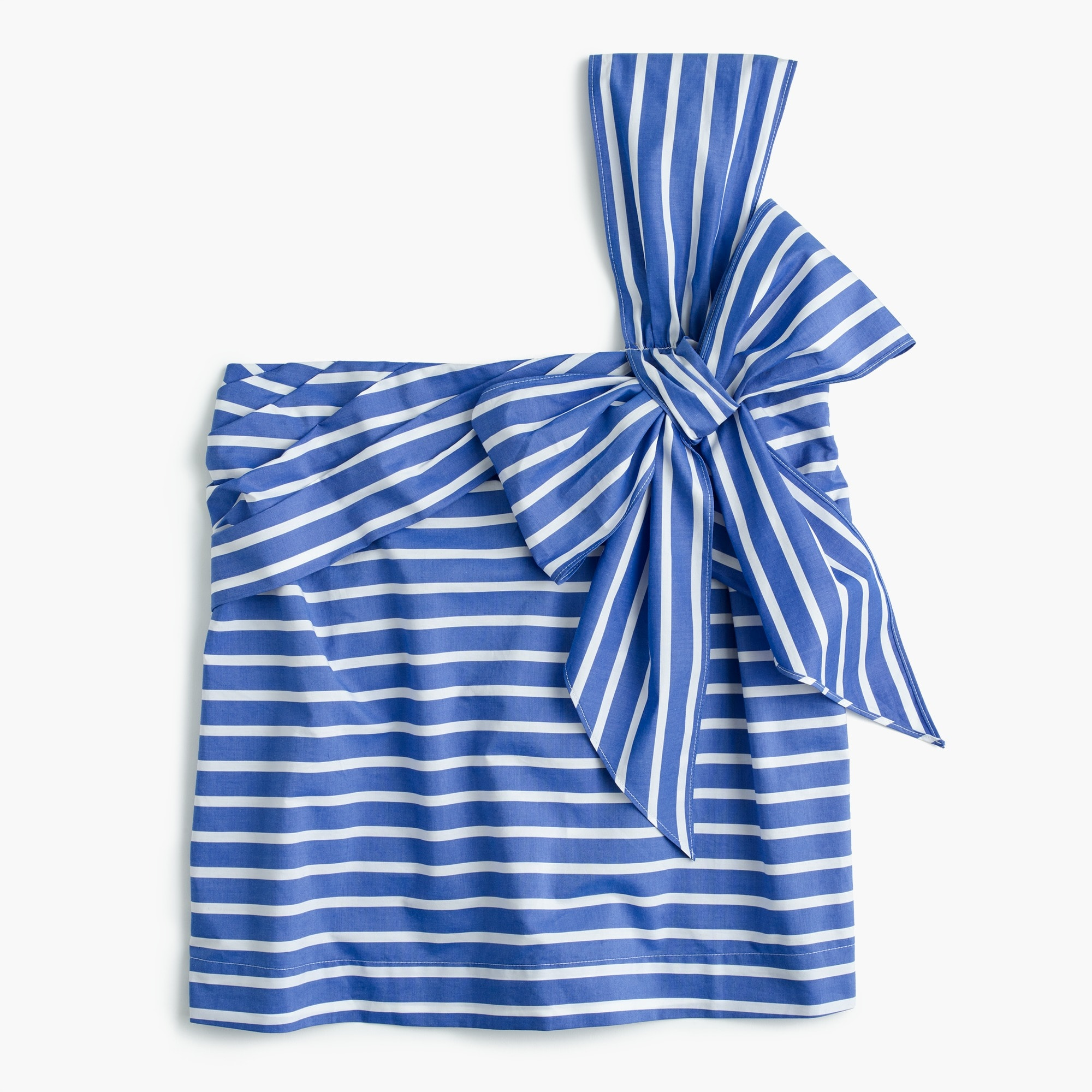 Image 1 for One-shoulder bow top in stripe