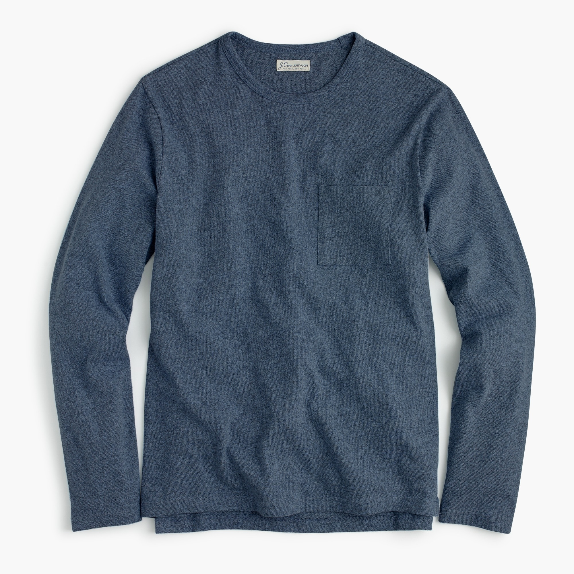 Tall long-sleeve T-shirt in overdyed jersey