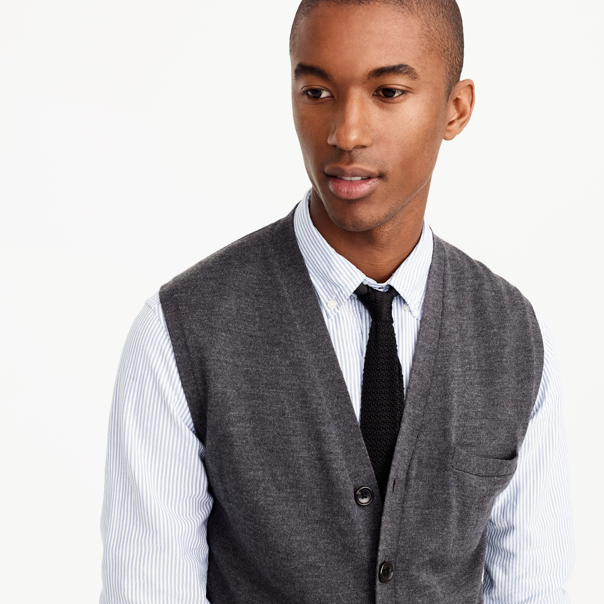Italian merino wool sweater vest : Men sweaters | J.Crew