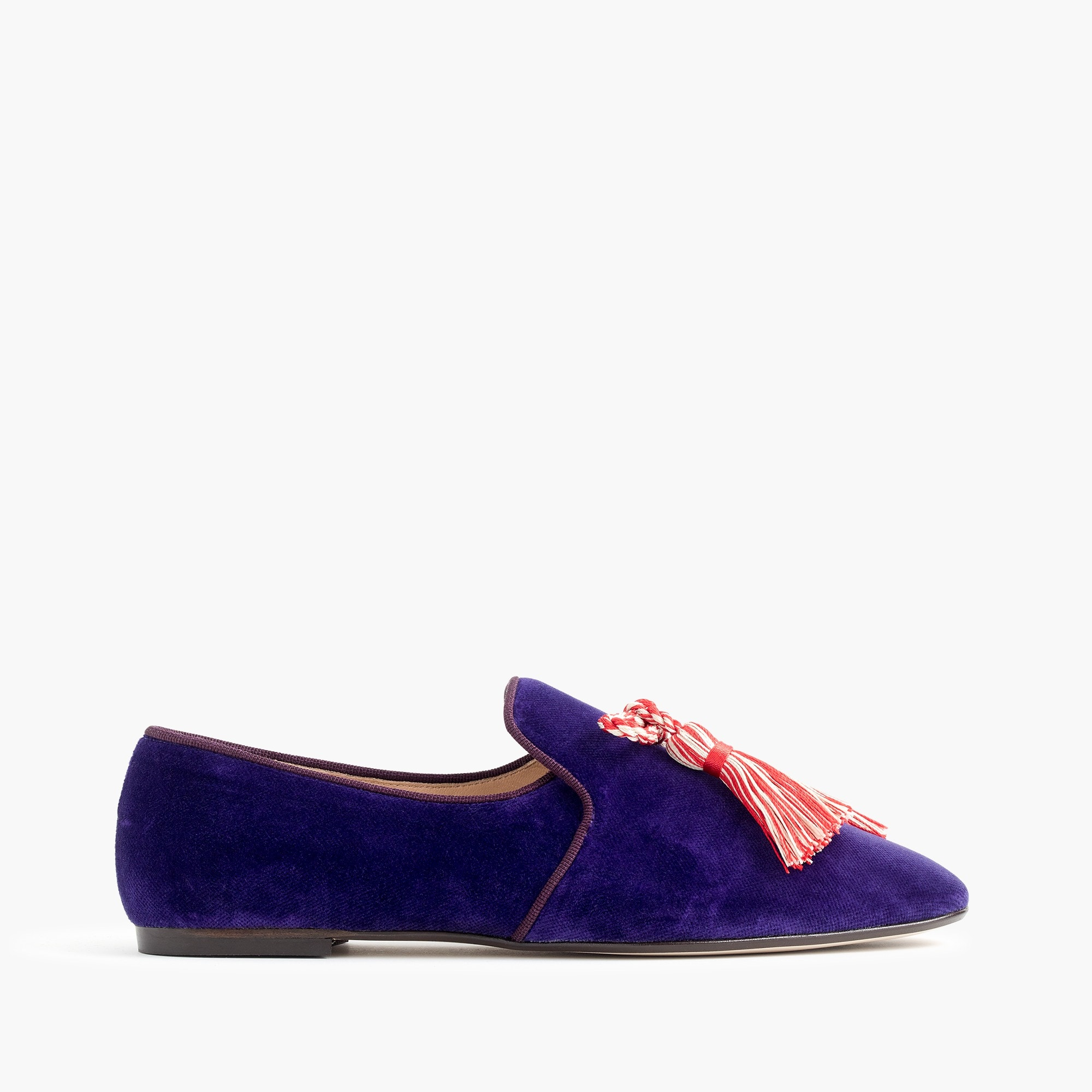 velvet smoking slippers :