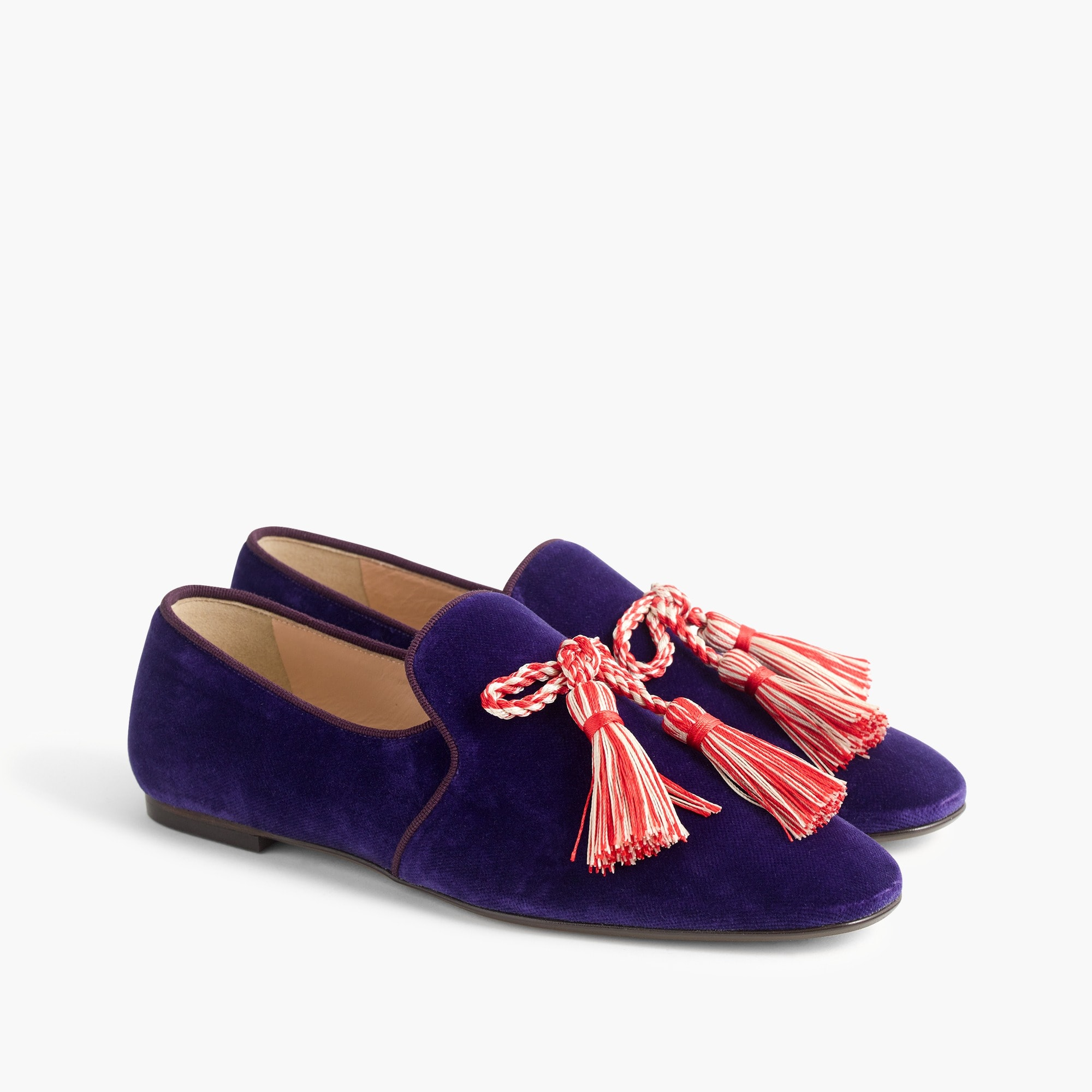 Velvet smoking slippers