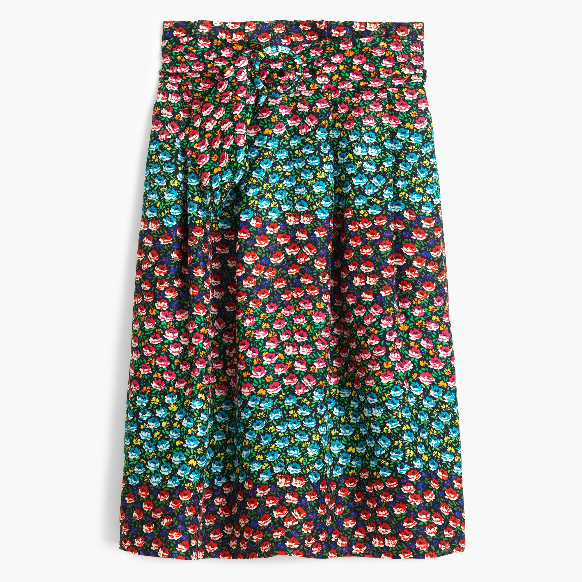 collection paper-bag waist skirt in ratti® midnight floral : women j.crew collection