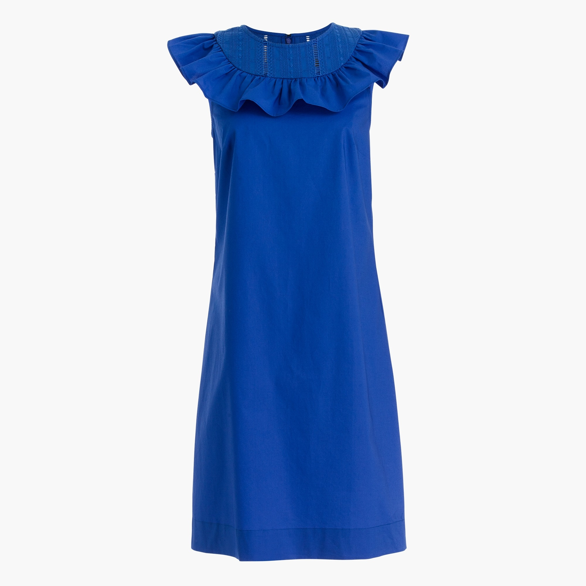petite ruffle-neck dress : women dresses