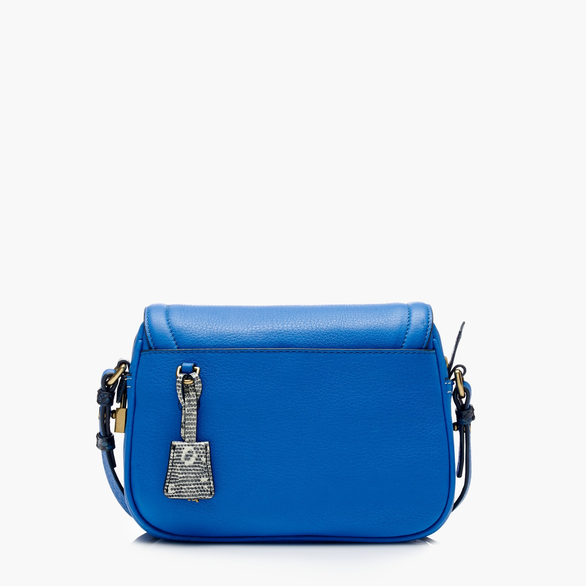 Signet flap bag with printed strap in Italian leather