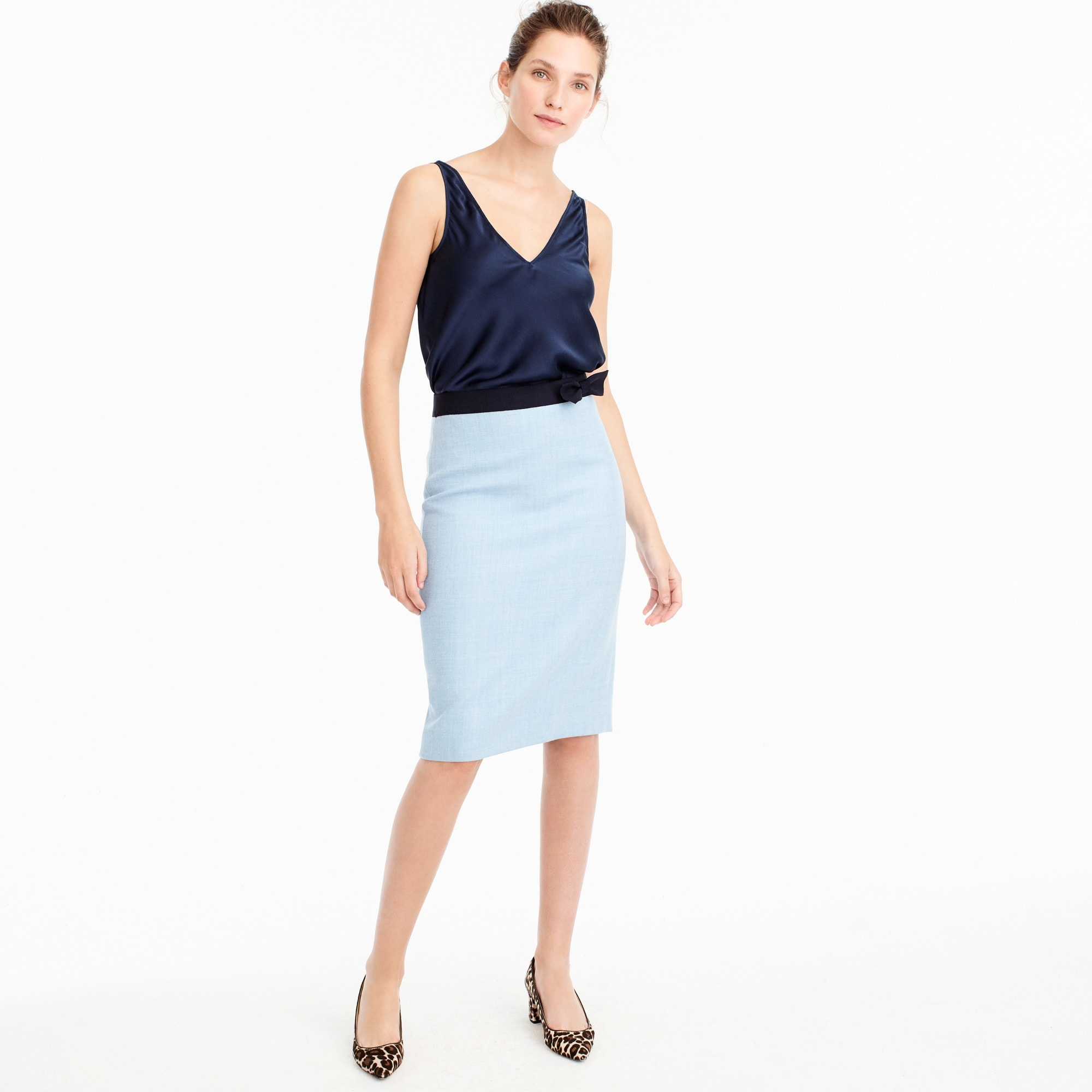 Bow pencil skirt