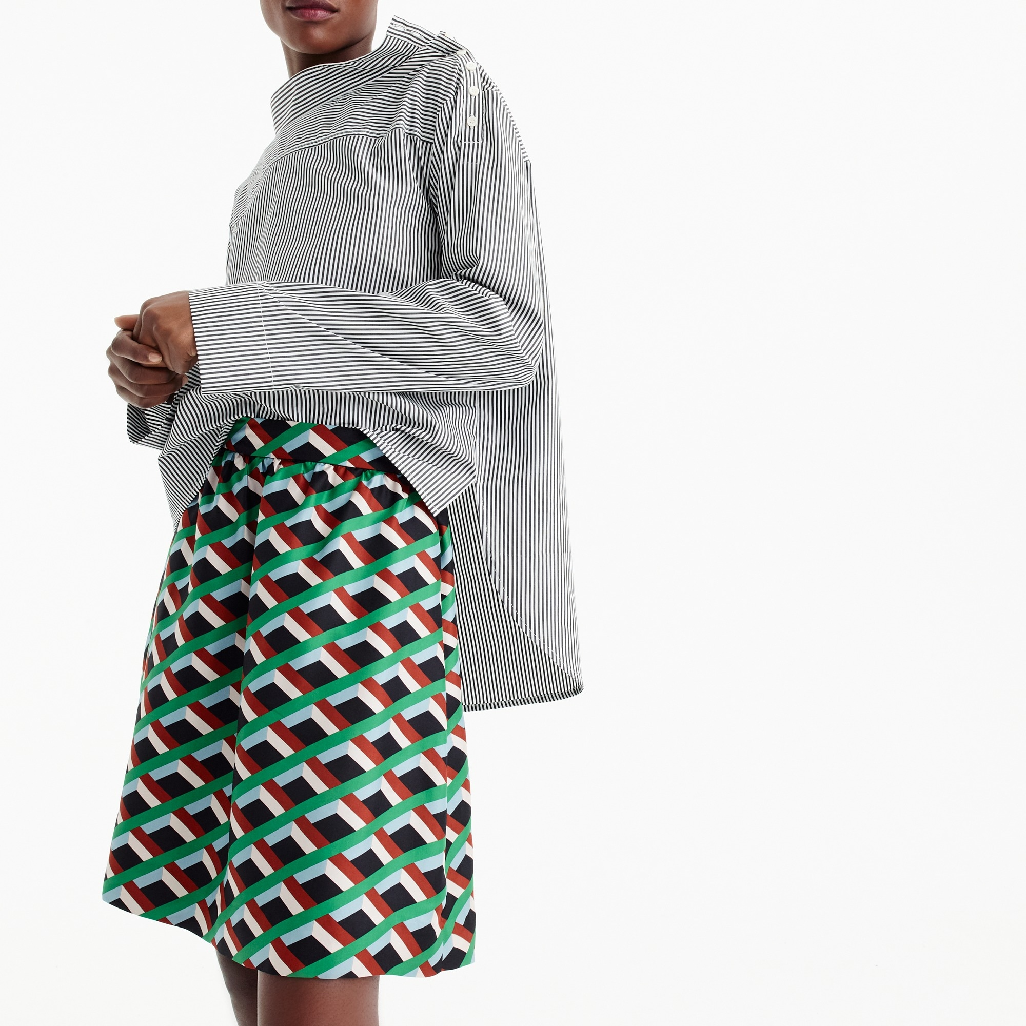 Ratti® graphic diamond print skirt