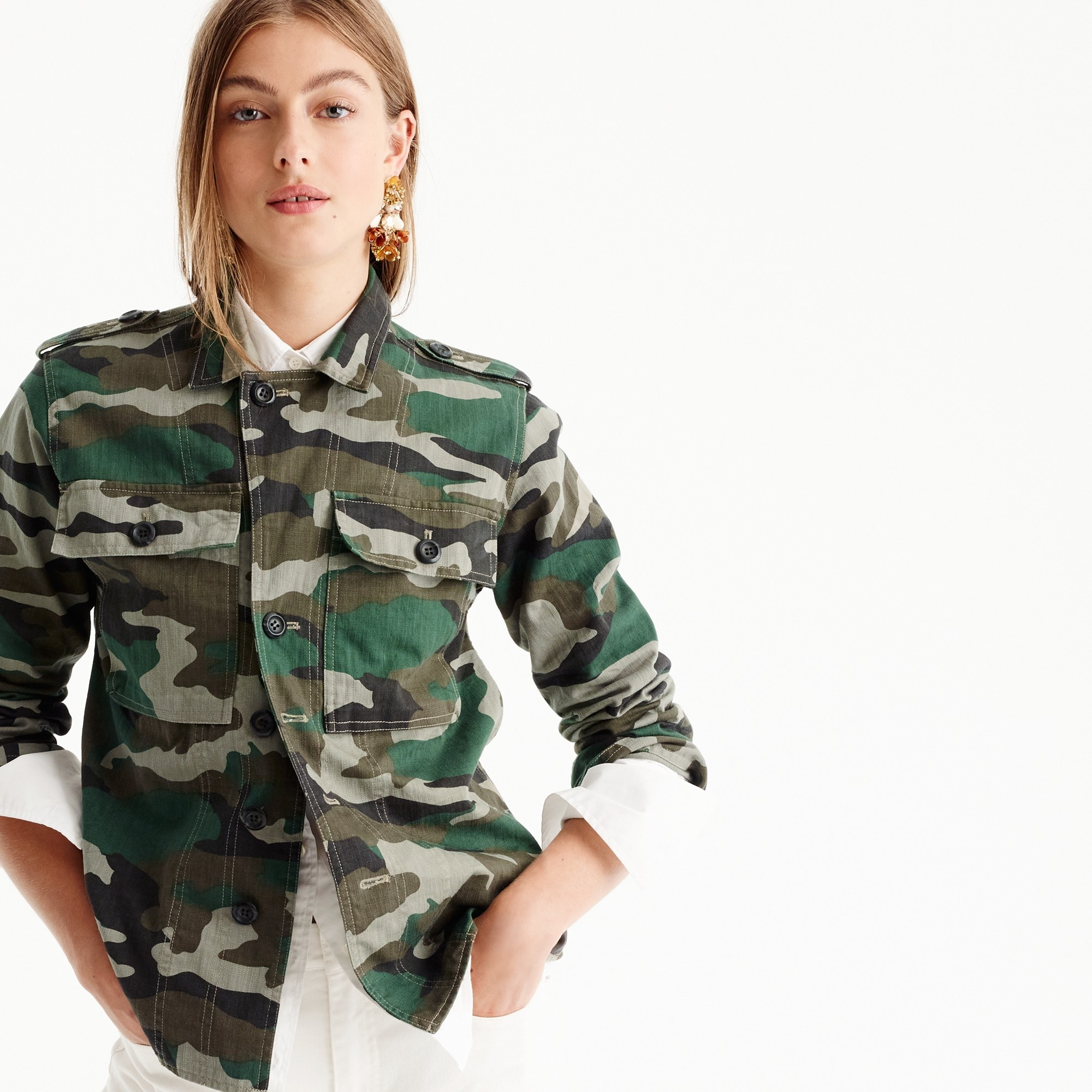 Image 2 for Camouflage utility shirt-jacket