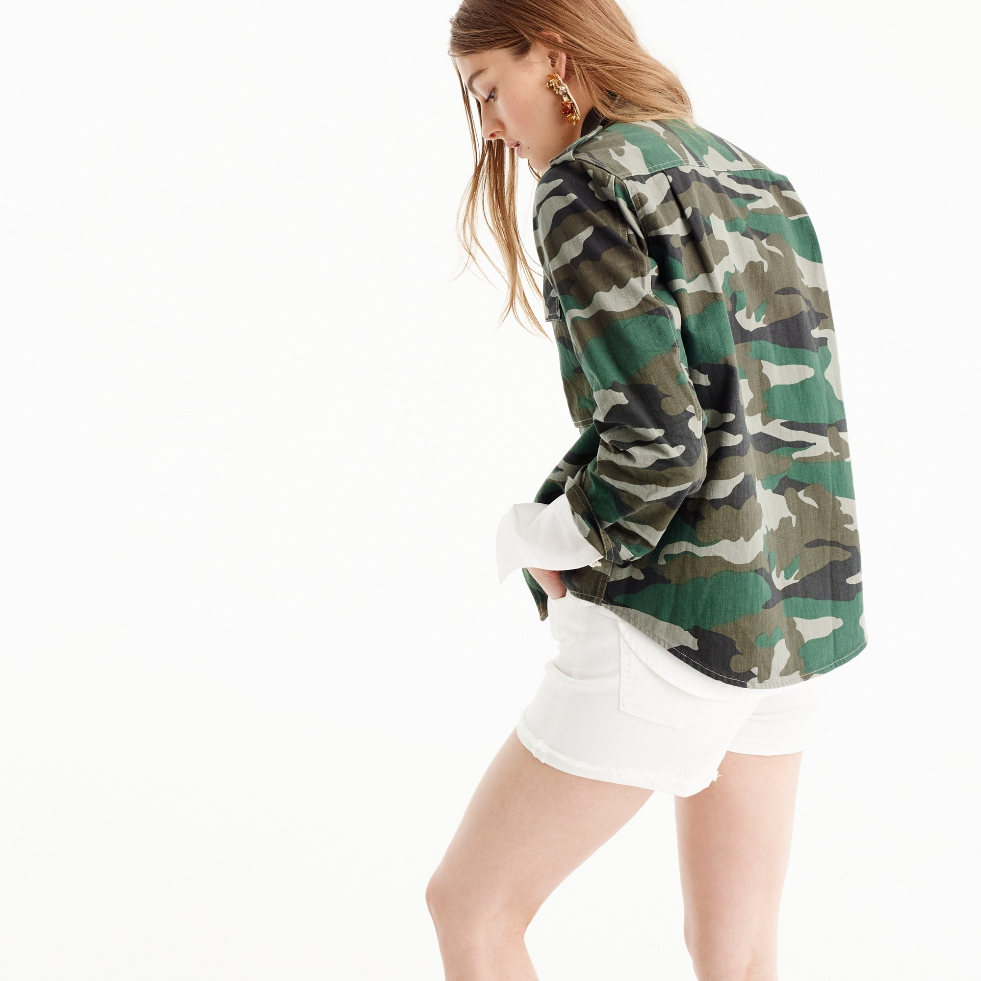 Image 4 for Camouflage utility shirt-jacket