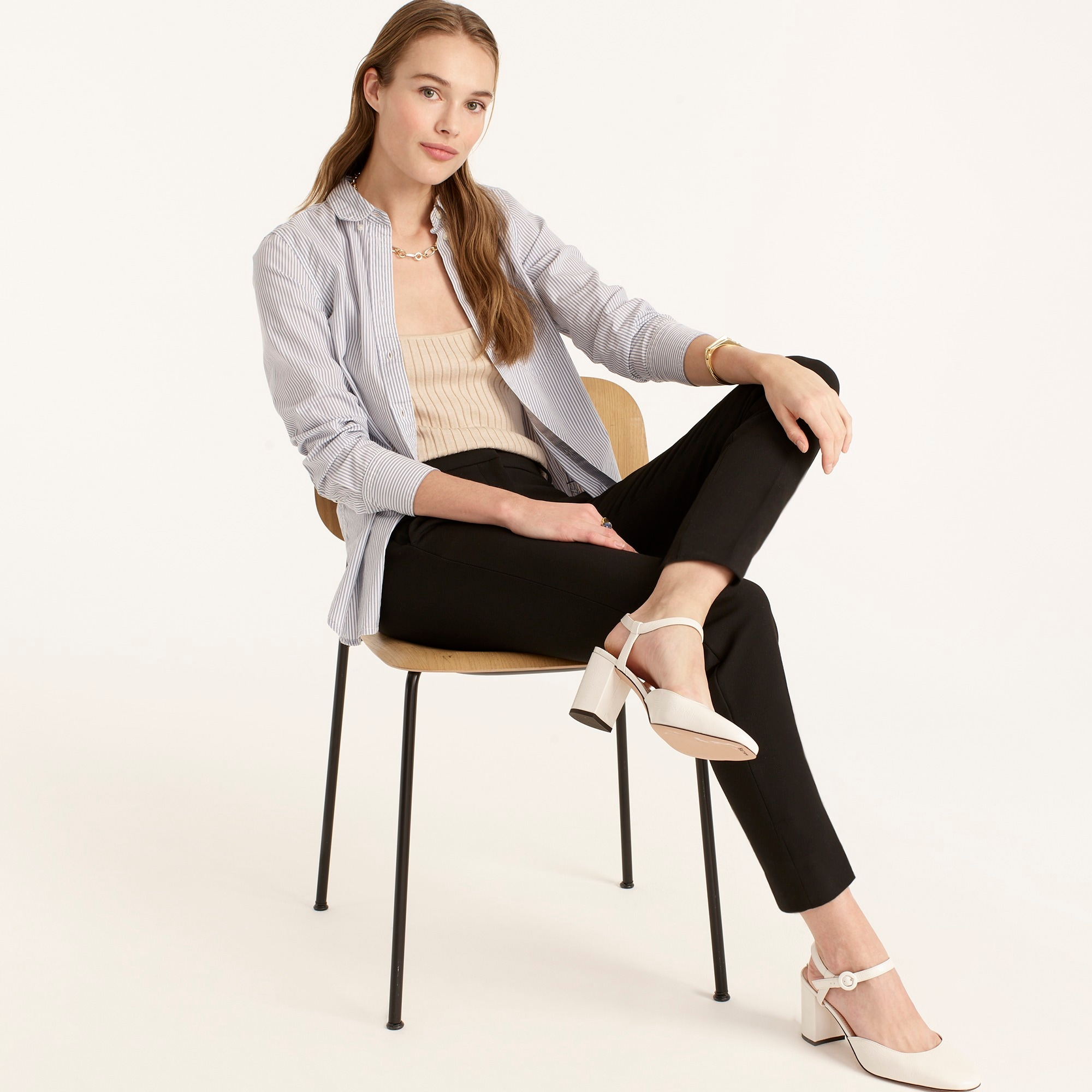 Tall Cameron slim crop pant in four-season stretch