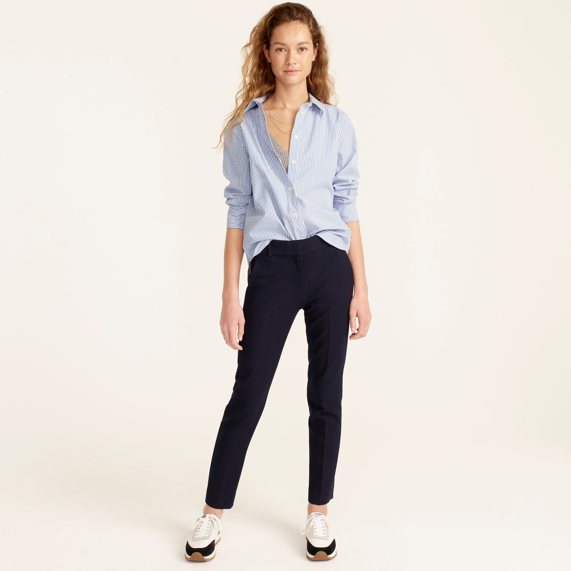 Cameron slim crop pant in four-season stretch
