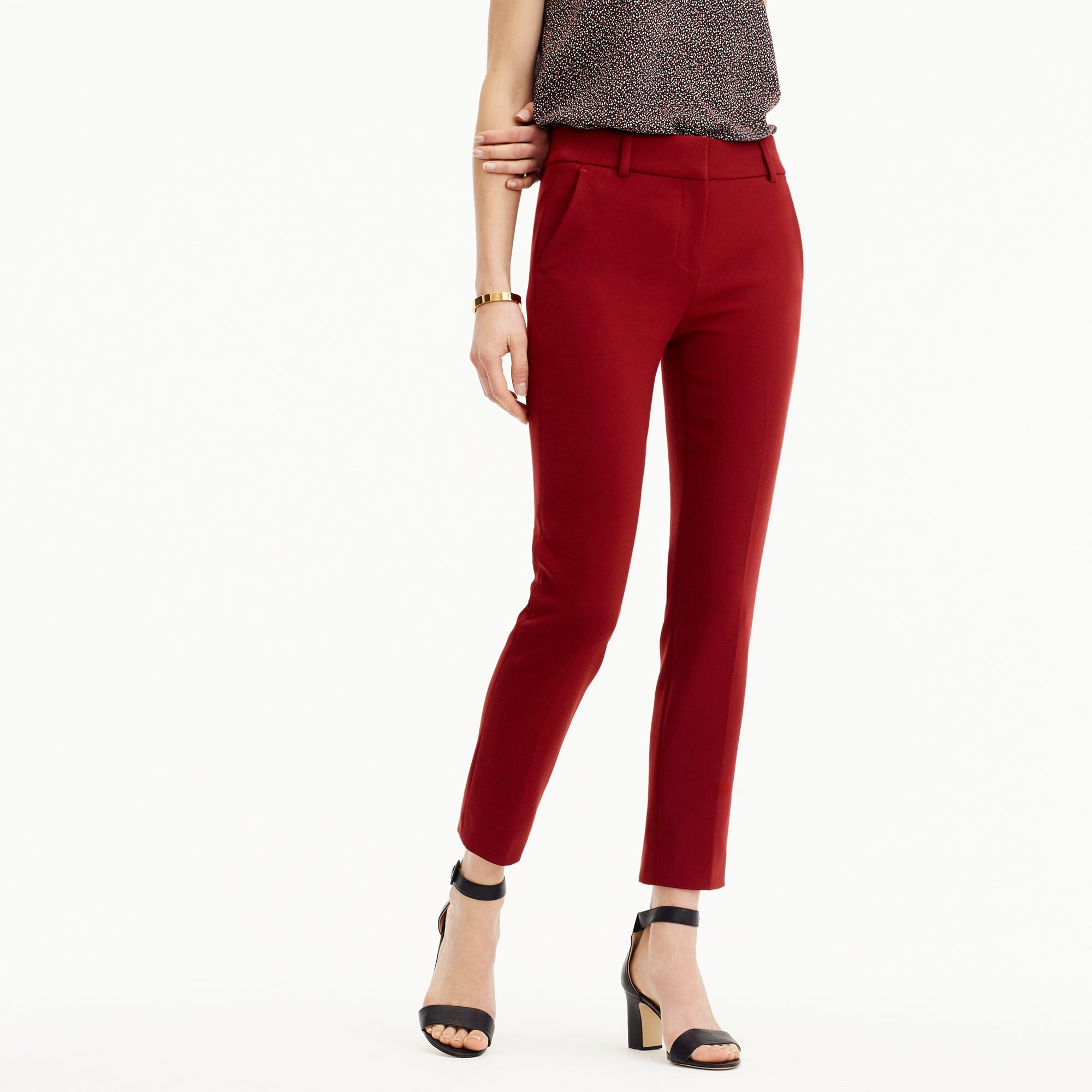 Cameron slim crop pant in four-season stretch women suiting c