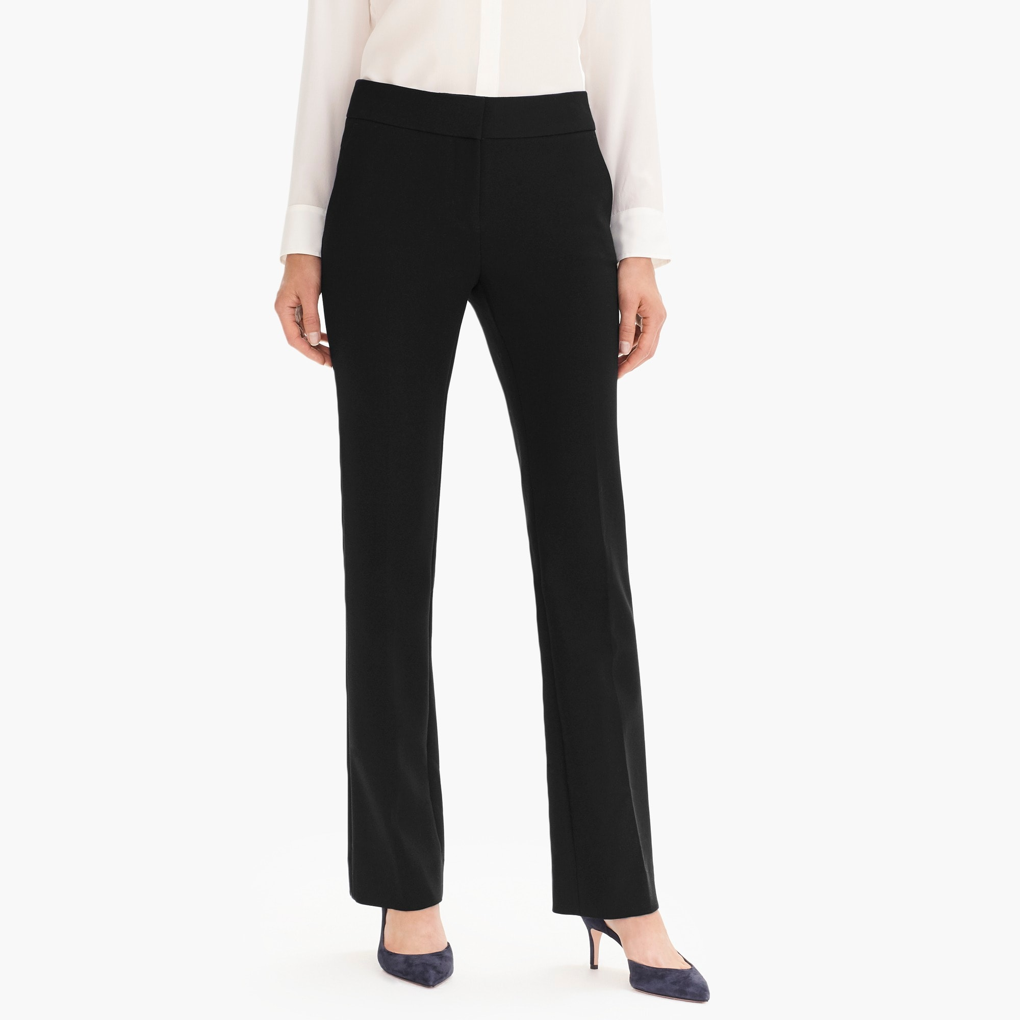 Edie full-length trouser in four-season stretch women suiting c