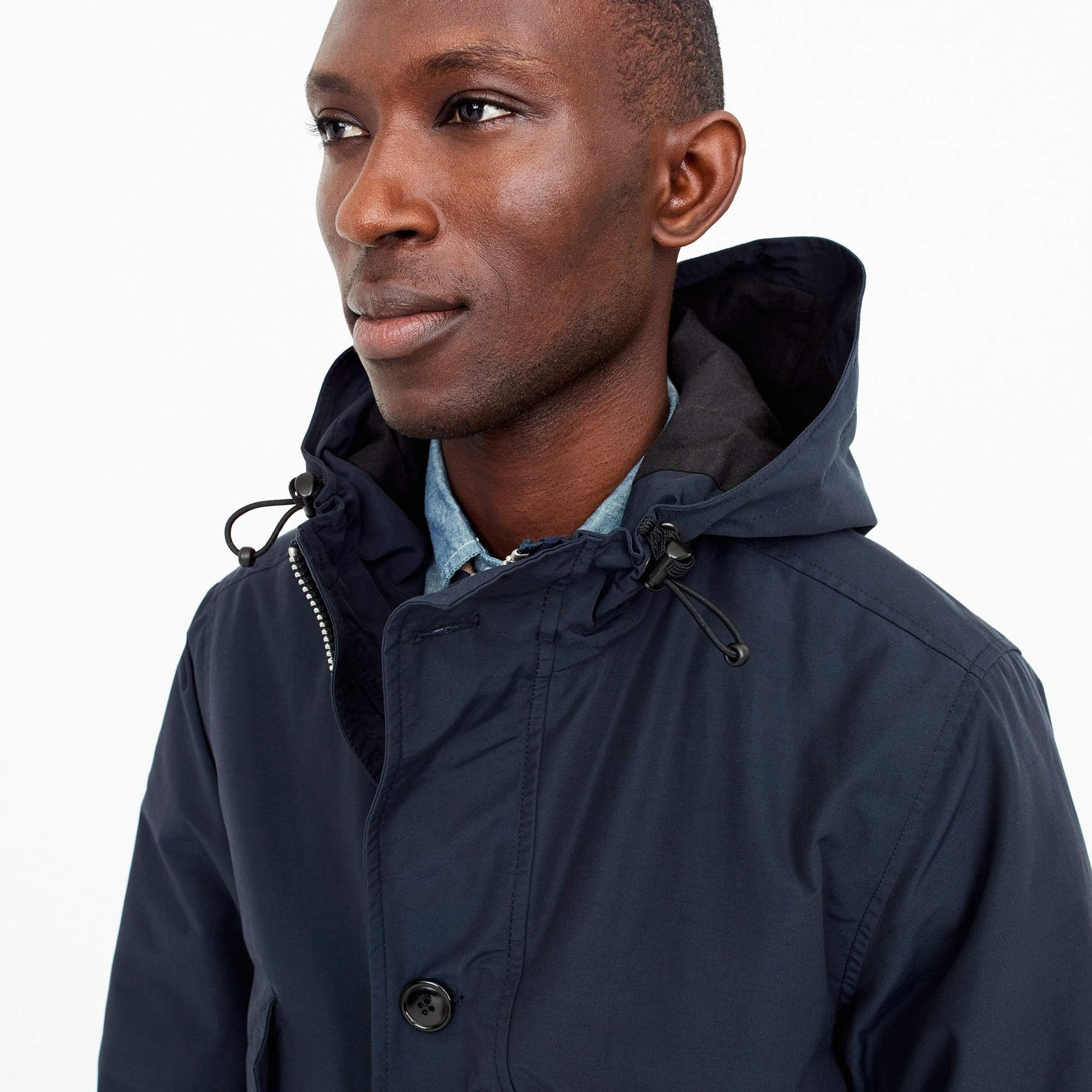 Hooded snorkel jacket