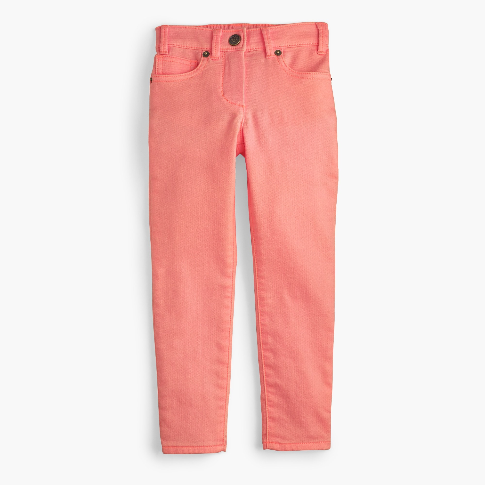 Girls' garment-dyed runaround jeans girl pants c