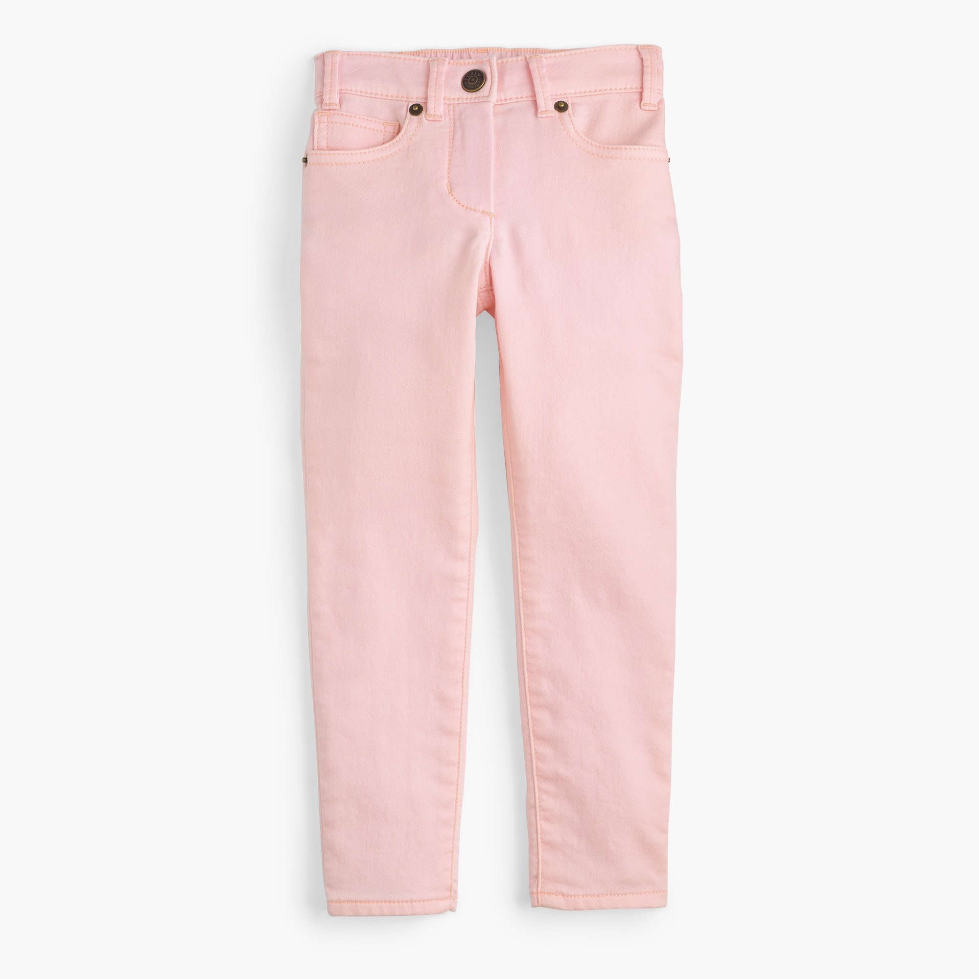 Girls' garment-dyed runaround jeans girl new arrivals c