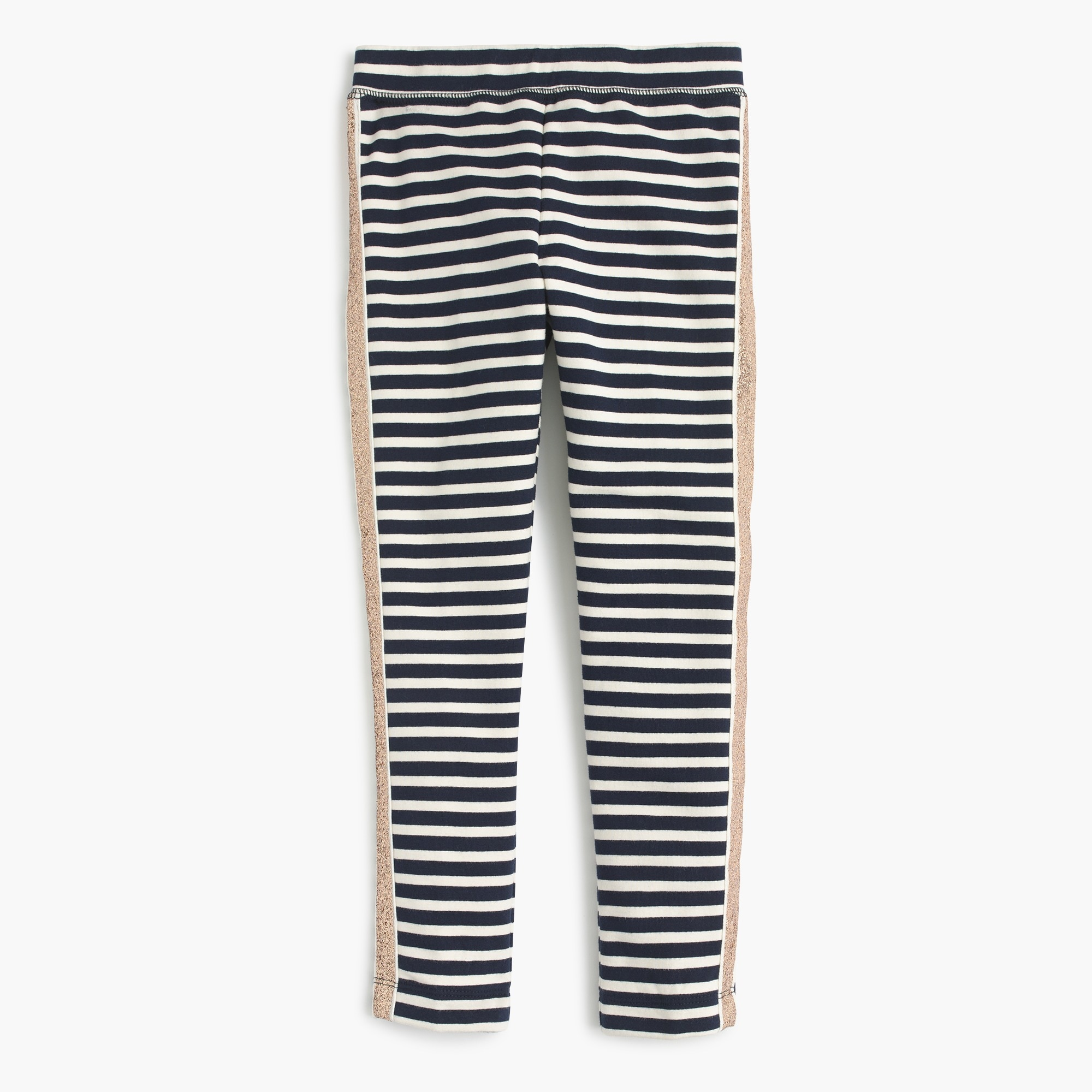 Image 1 for Girls' everyday leggings with tux stripe
