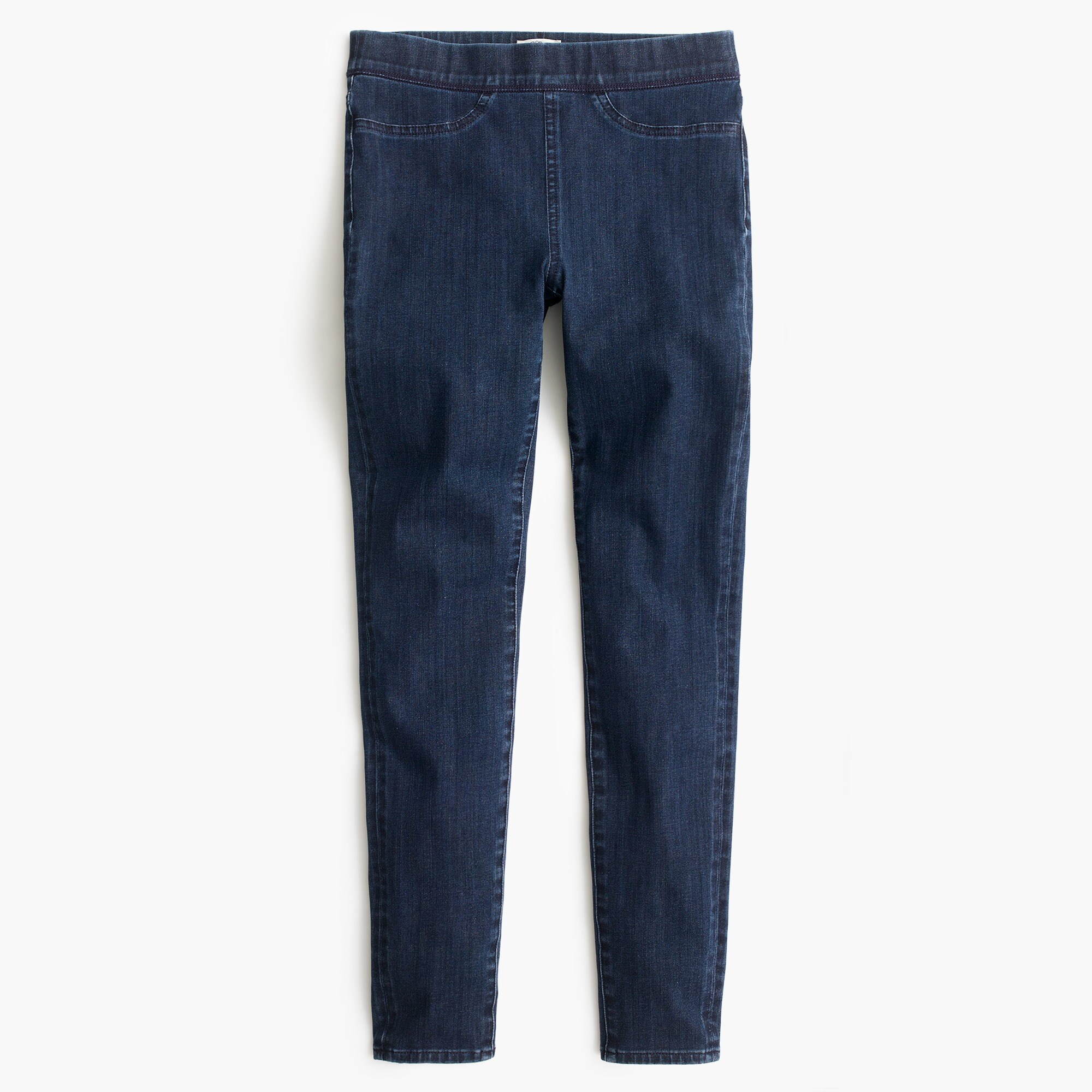 Petite pull-on toothpick jean in indigo