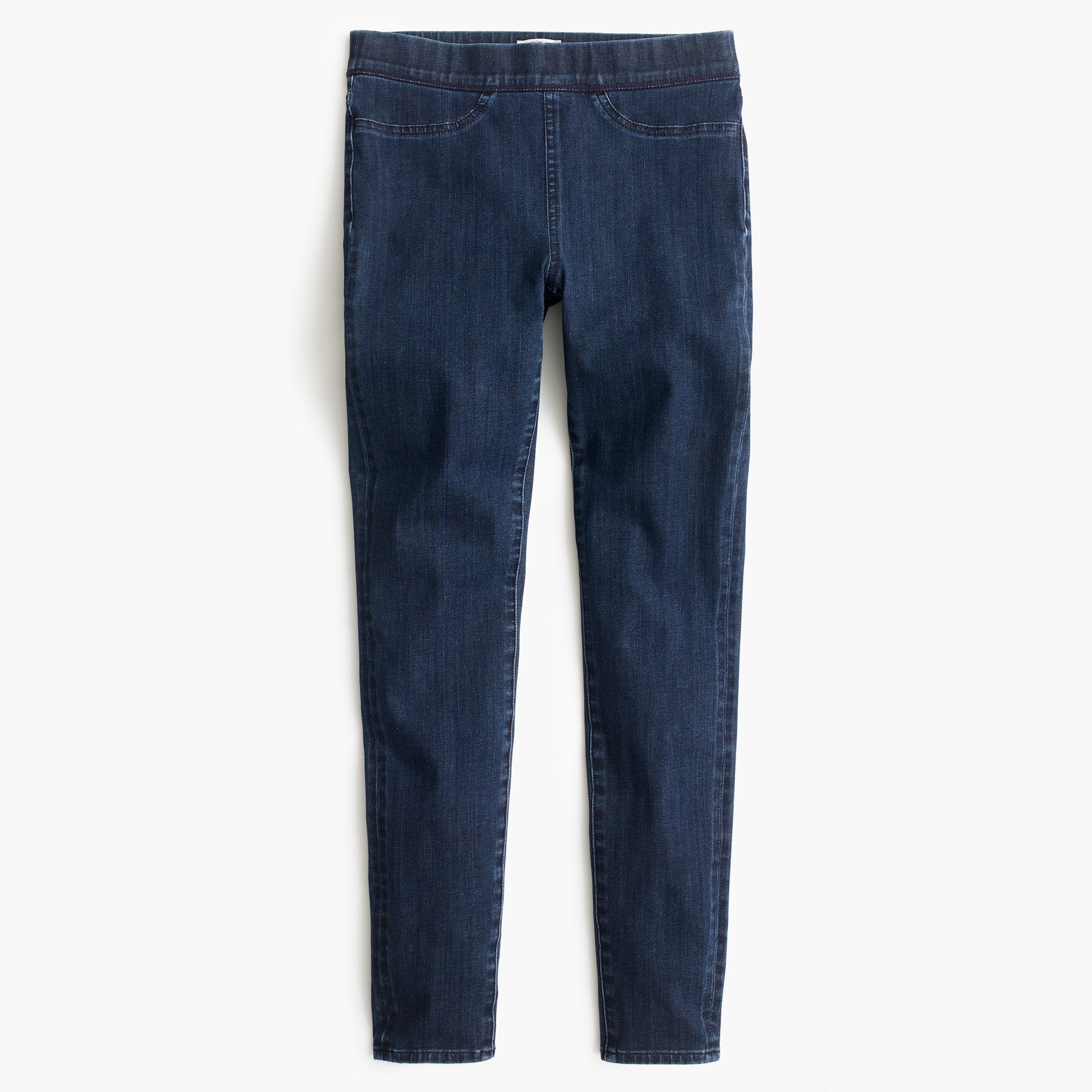 Pull-on toothpick jean in indigo