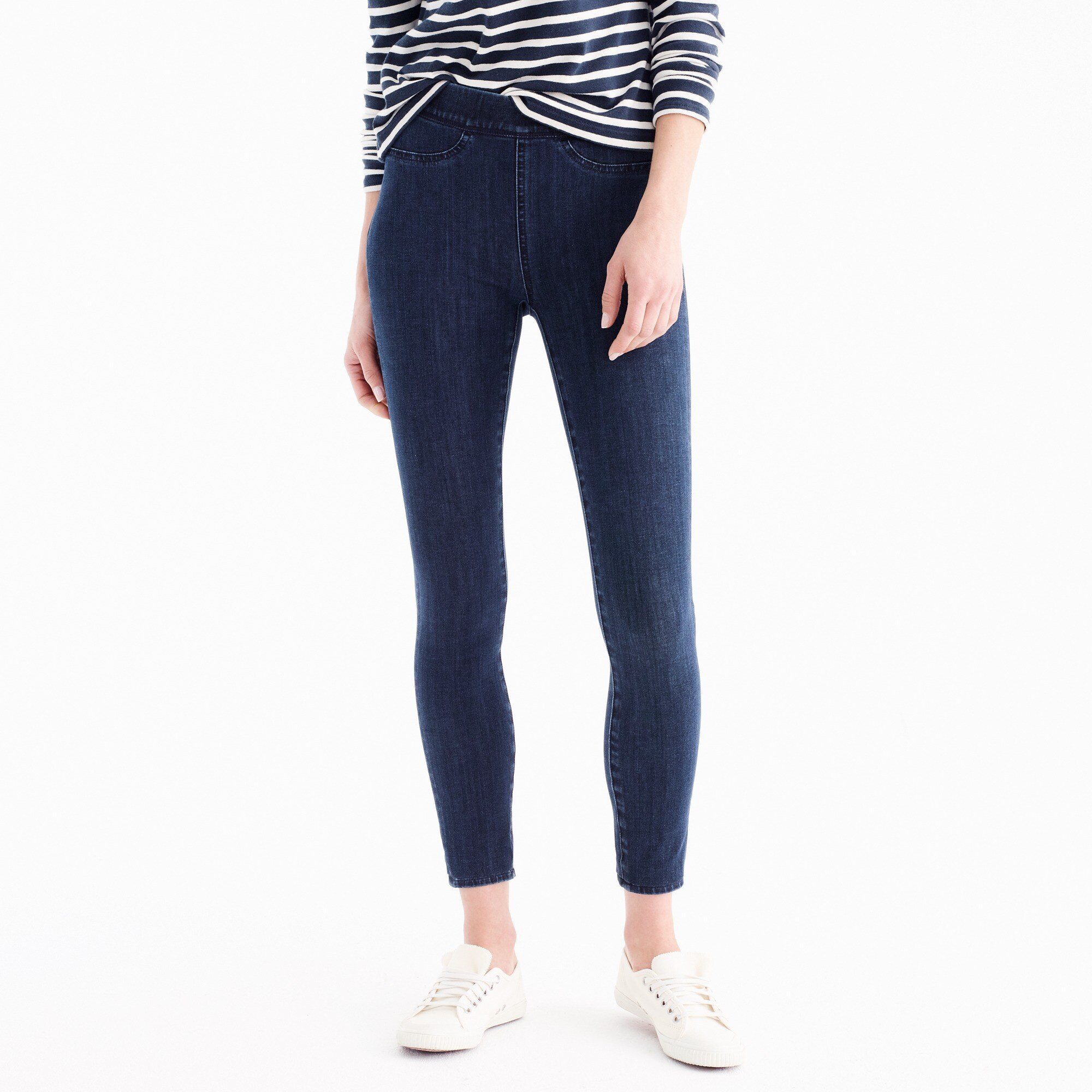 Tall pull-on toothpick jean in indigo