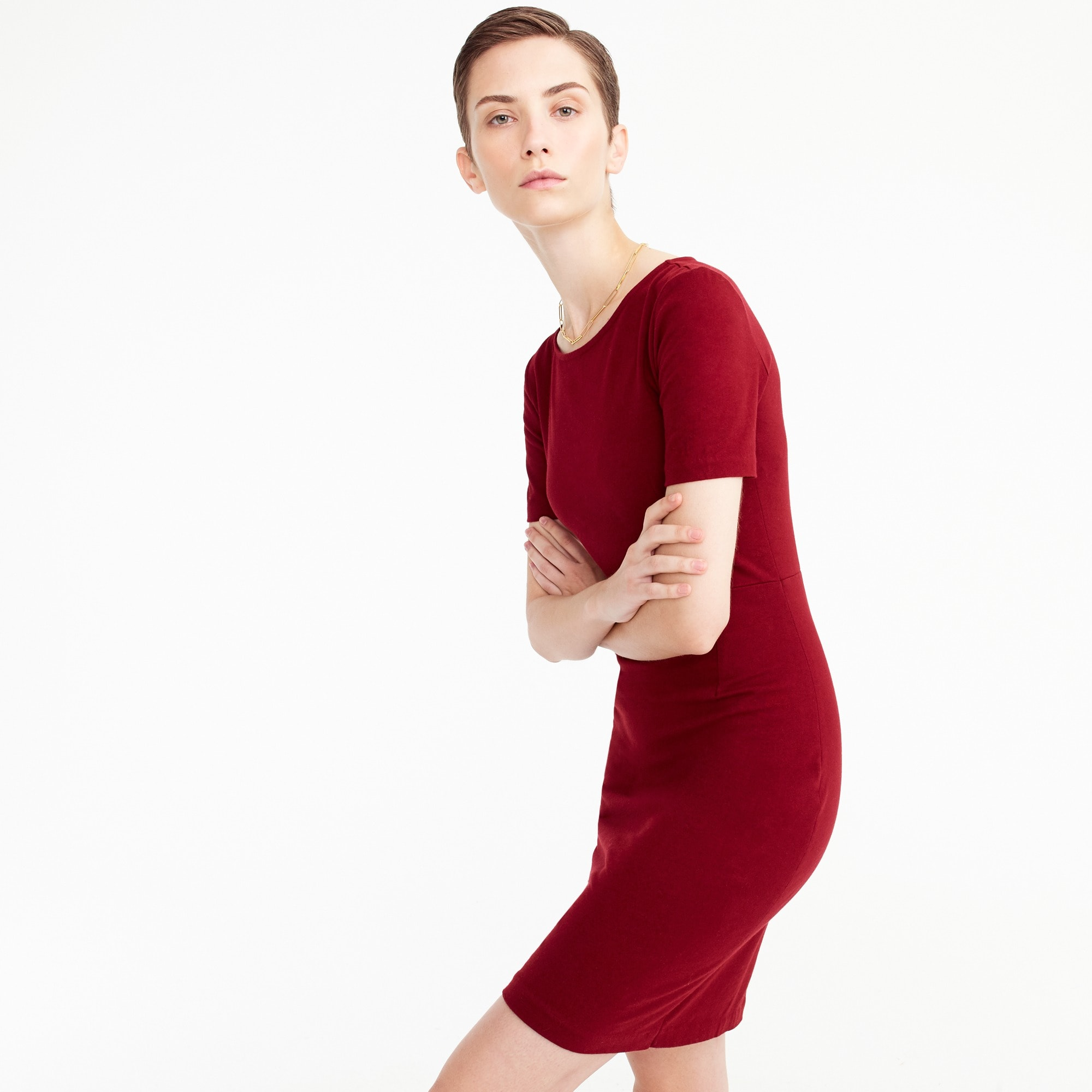 Petite short-sleeve dress