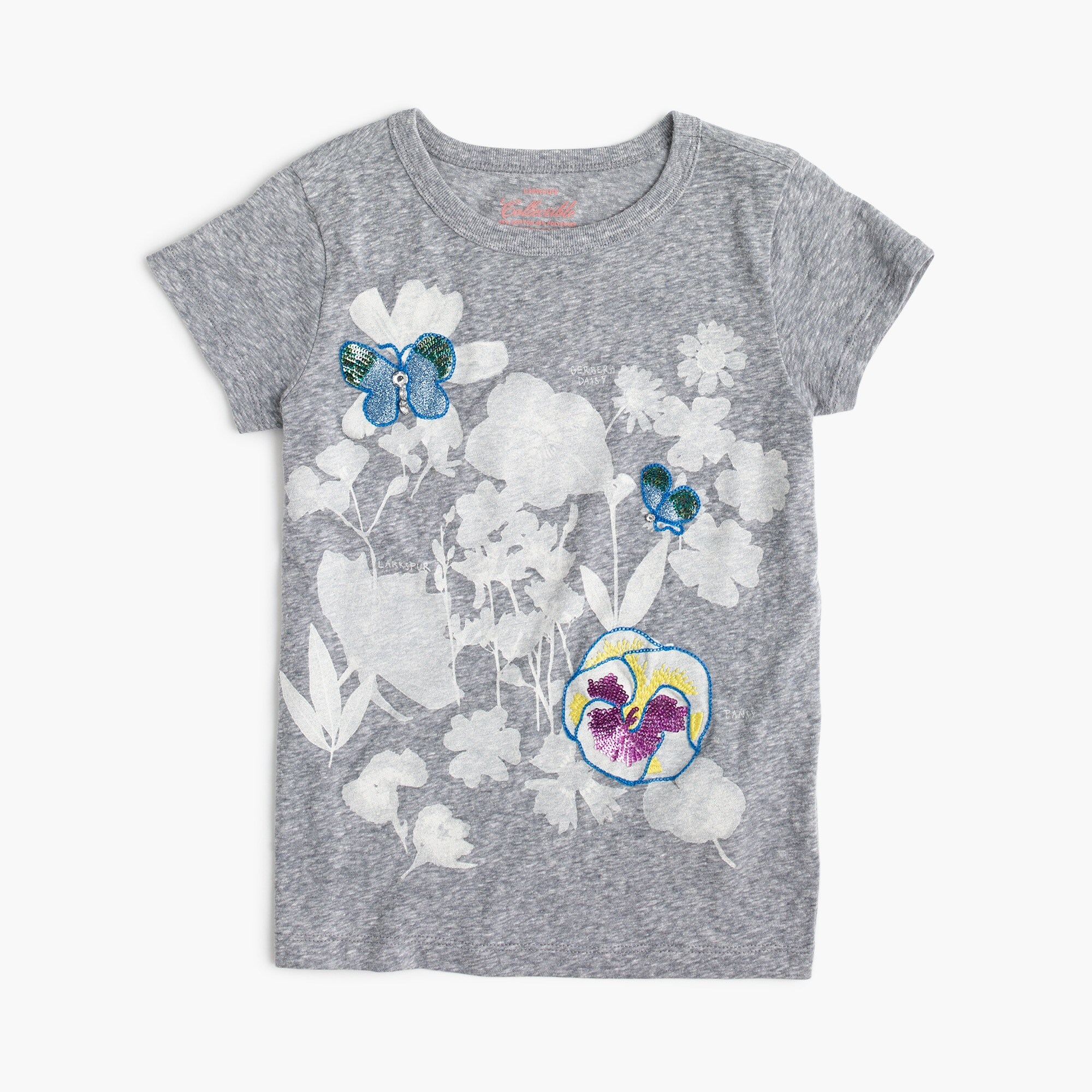 Girls' wildflower T-shirt