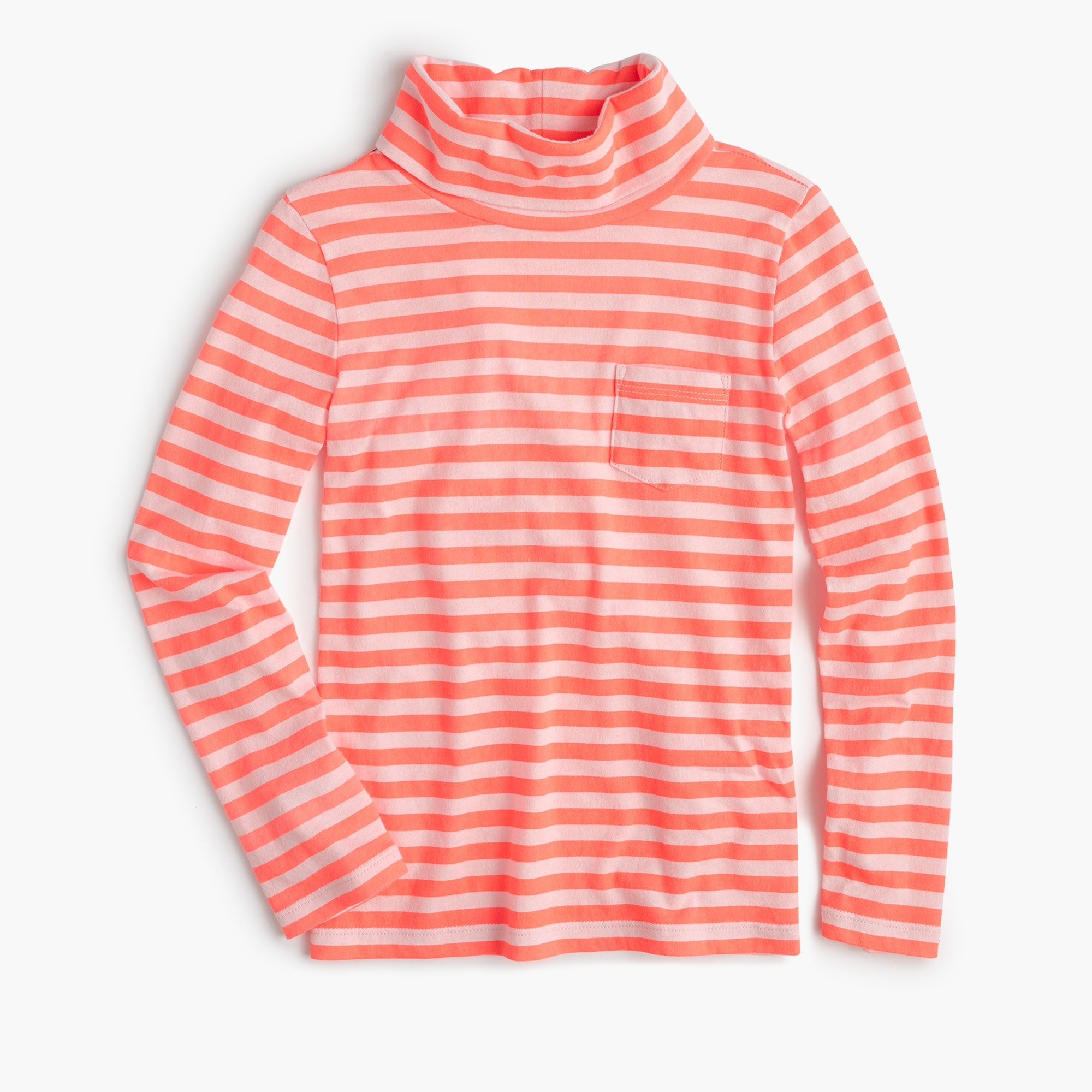 Girls' striped turtleneck
